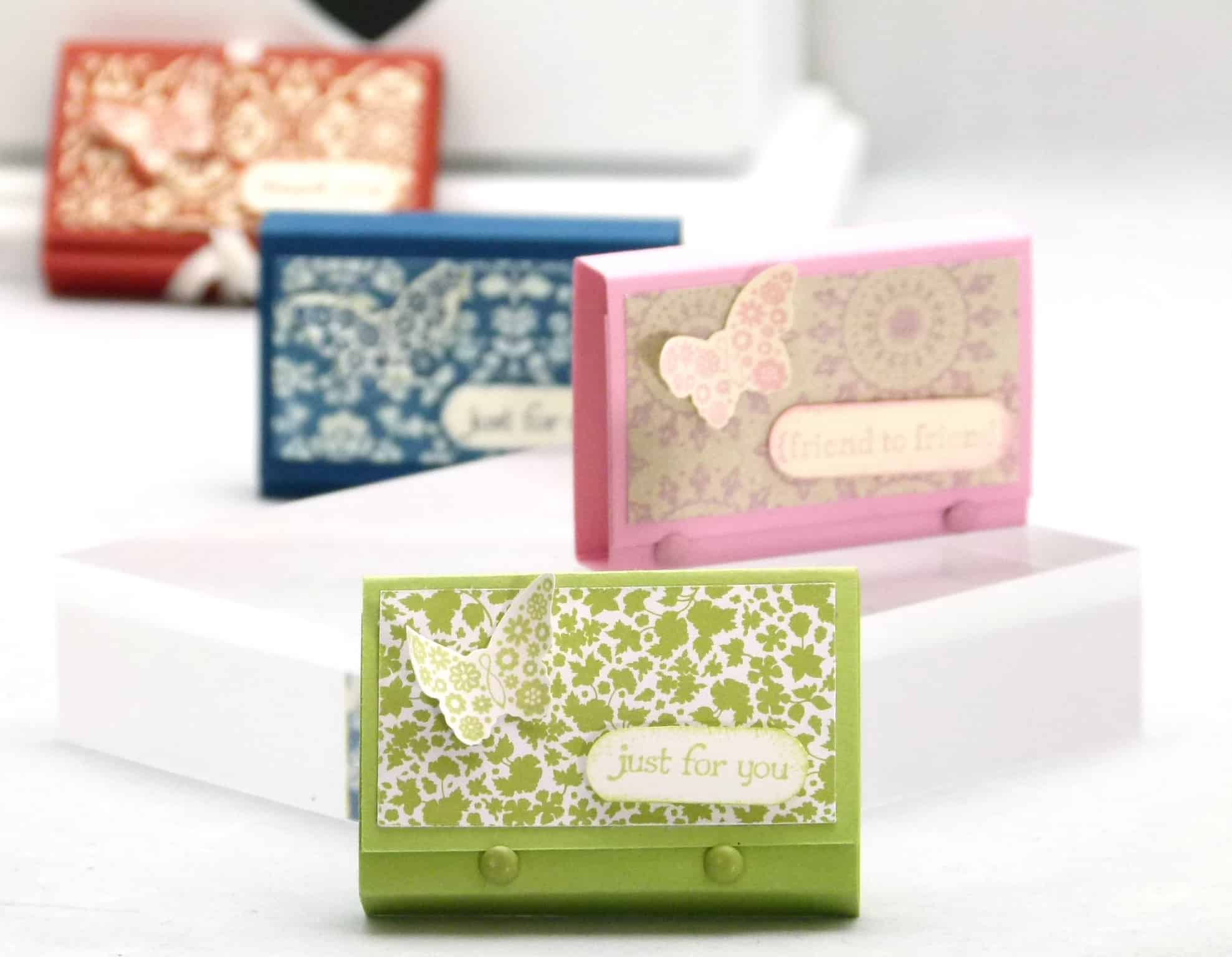stampin up mini post it note holder
