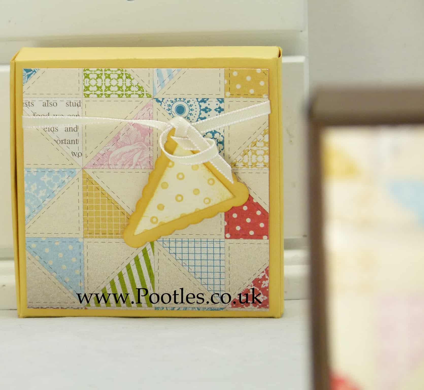 Stampin' Up! UK Mini Pizza Gift Treat Soap Box VIDEO