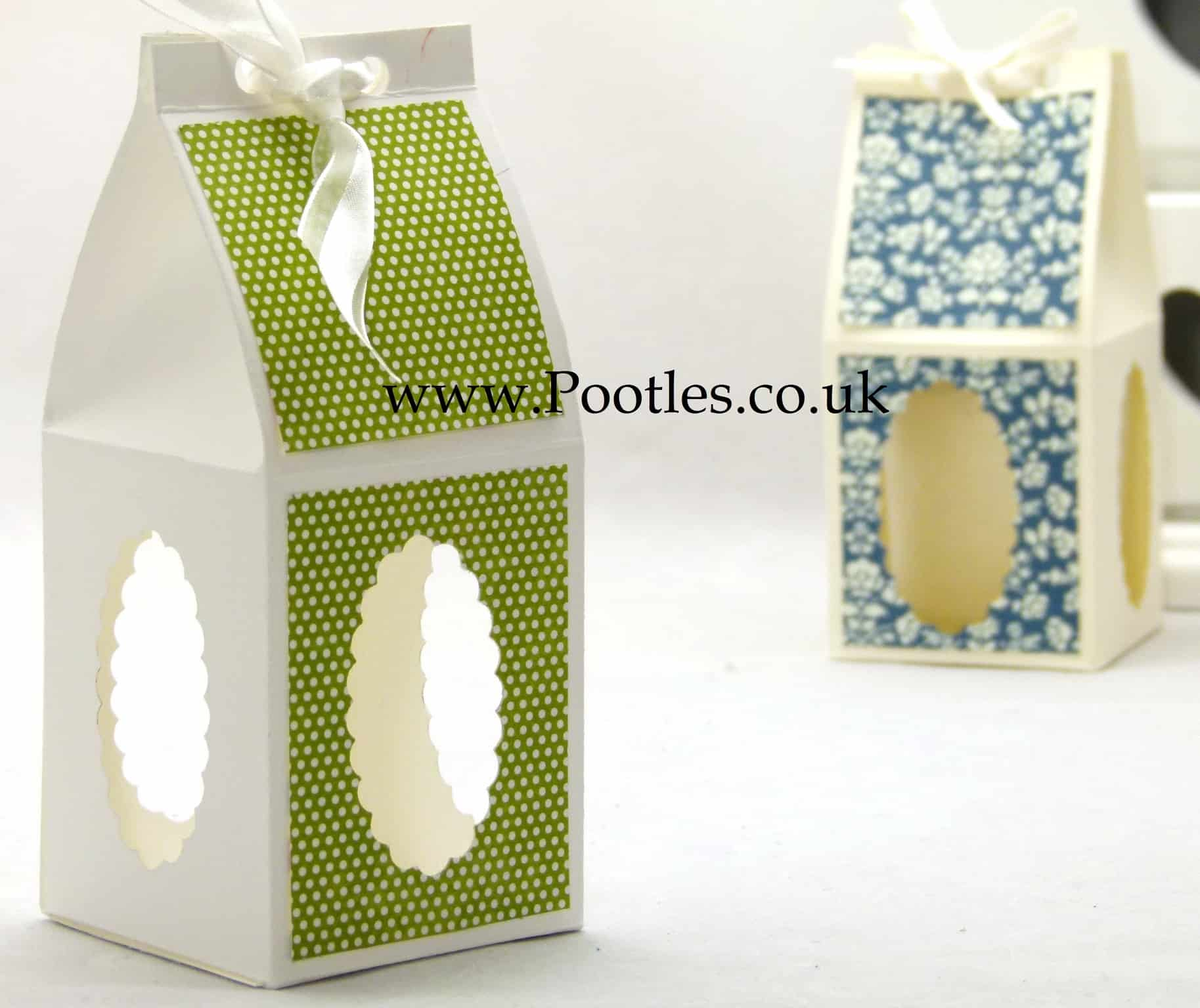 stampin up treat gift box with windows