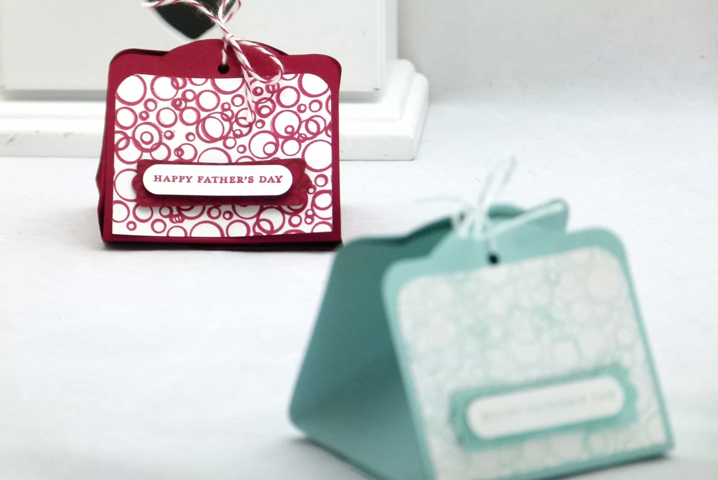 stampin up two tags four tags treat gift box pouch