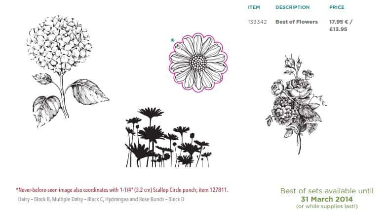 Stampin' Up! UK Best of Flower Stamp Set