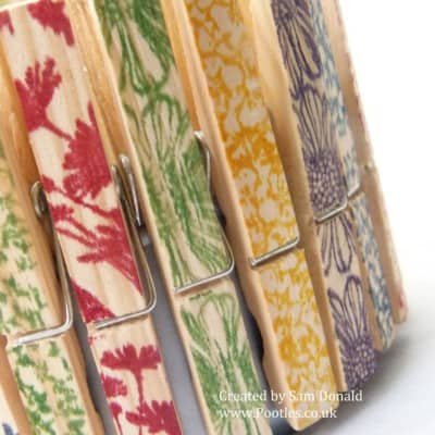 Stampin' Up! UK Upcycled Tuna Can and Clothes Pegs? VIDEO