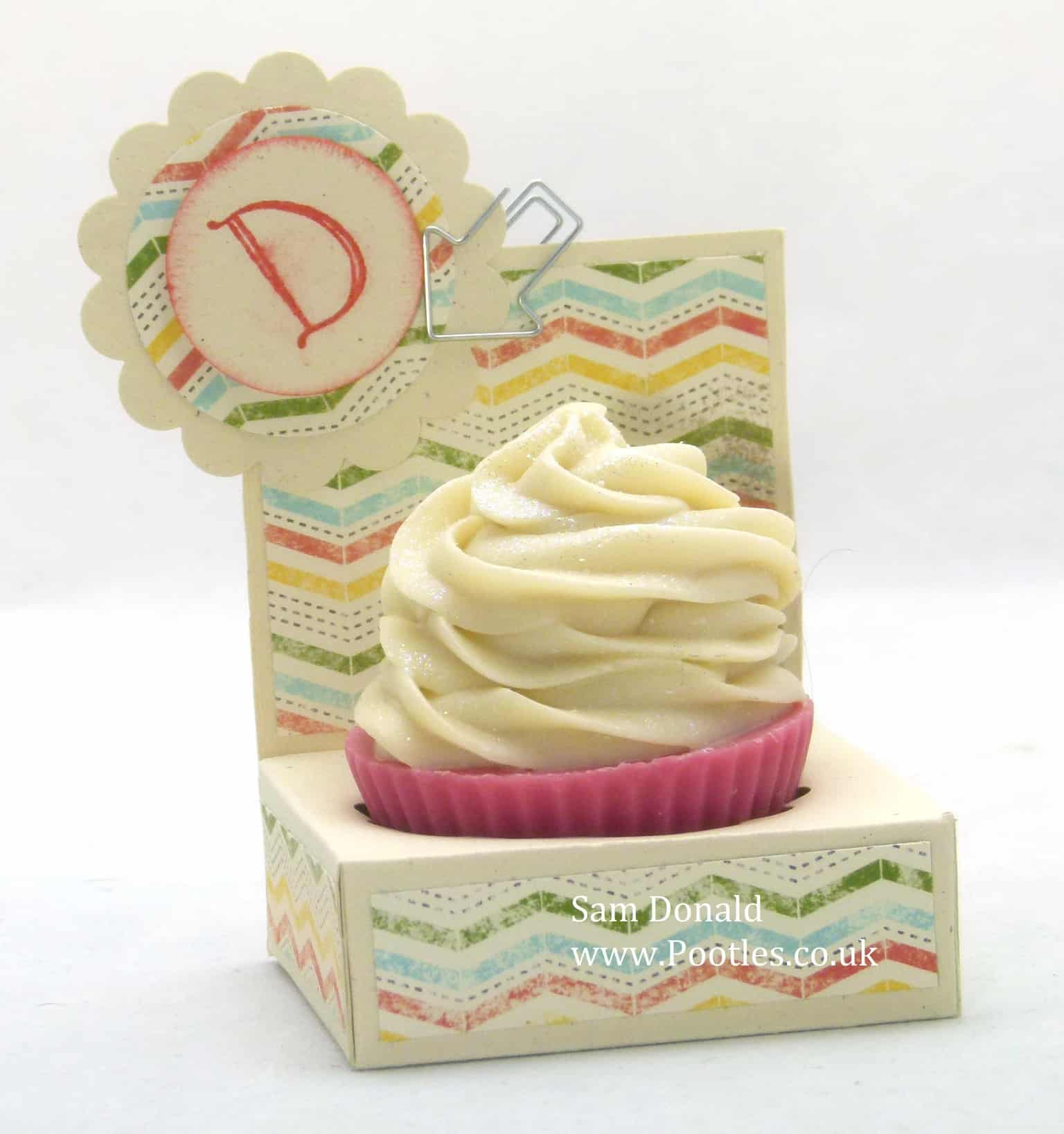 Pootles Stampin Up UK Cupcake Soap Gift Holder 2