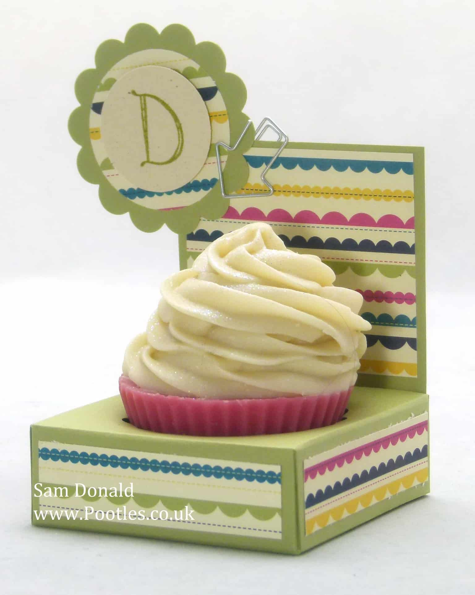 Pootles Stampin Up UK Cupcake Soap Gift Holder