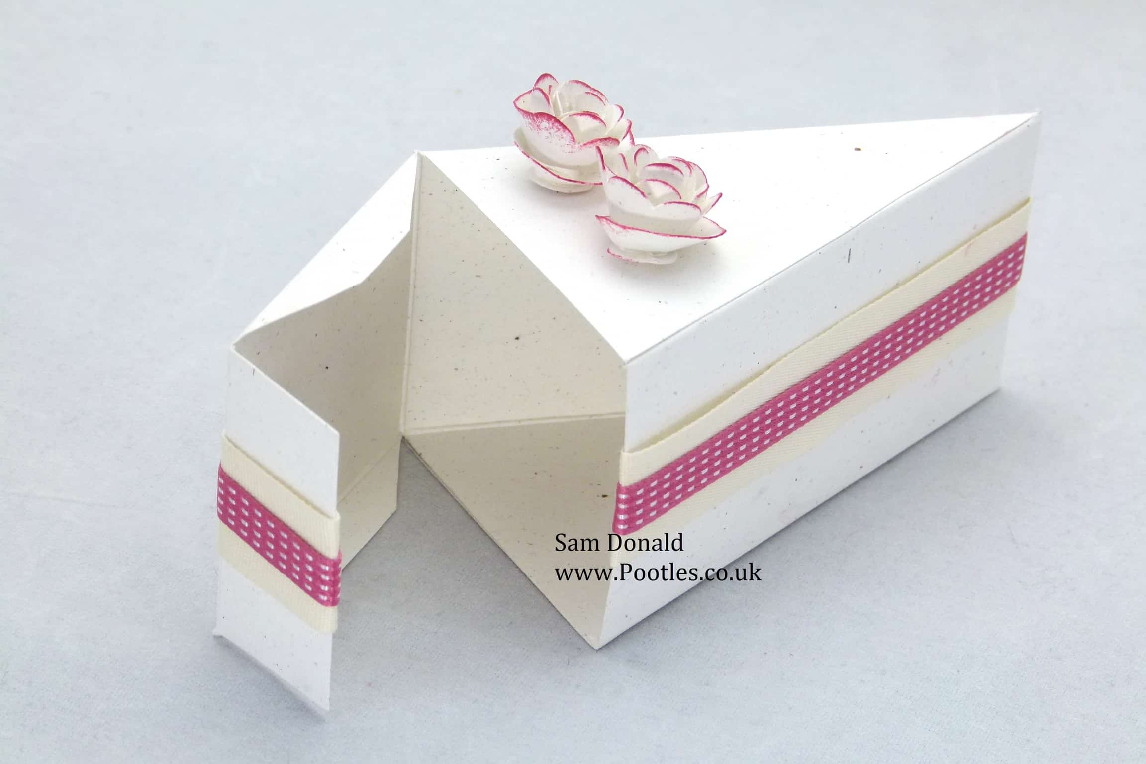 Cake Slice Box Template Pdf