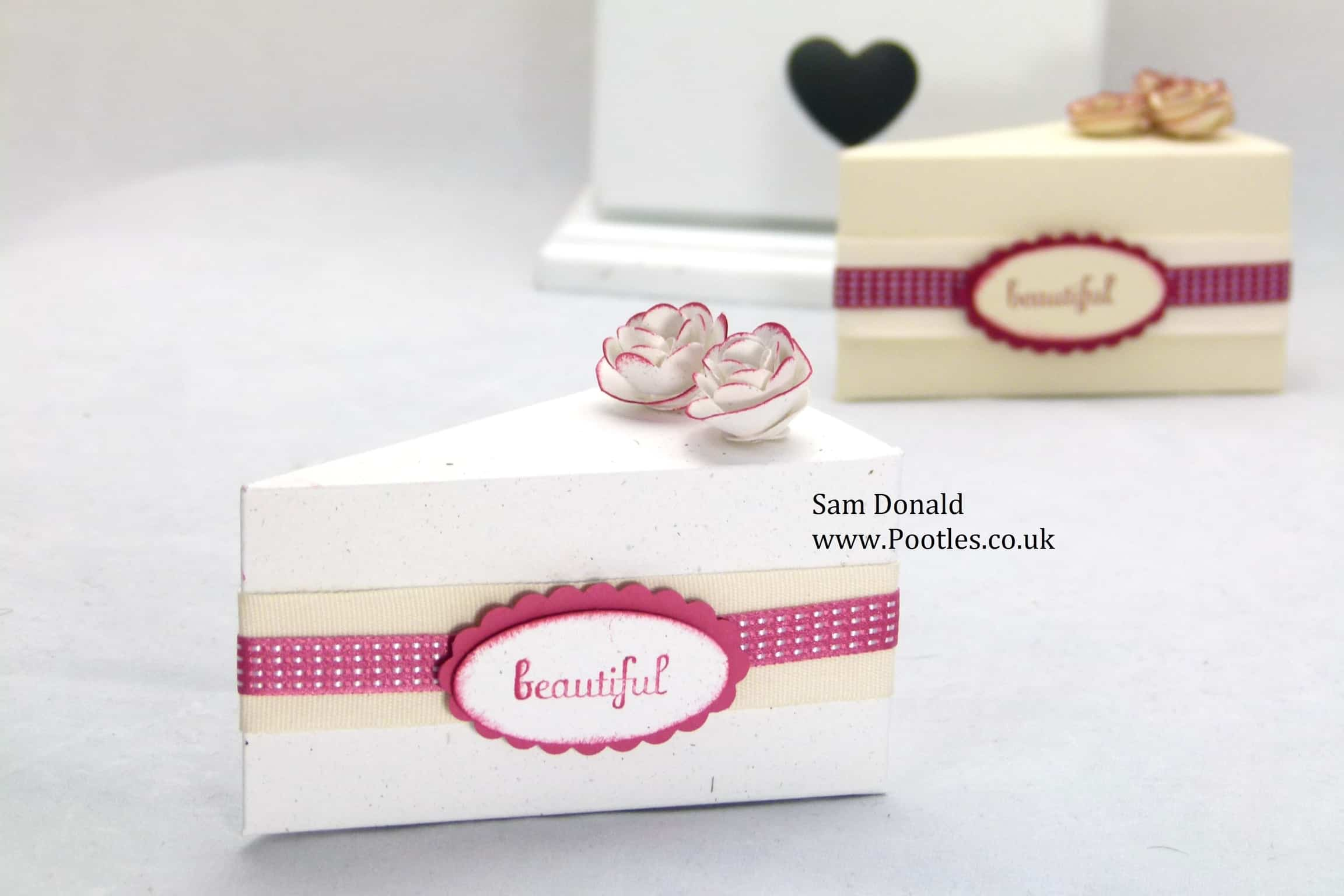 Stampin Up Cake Slice Box