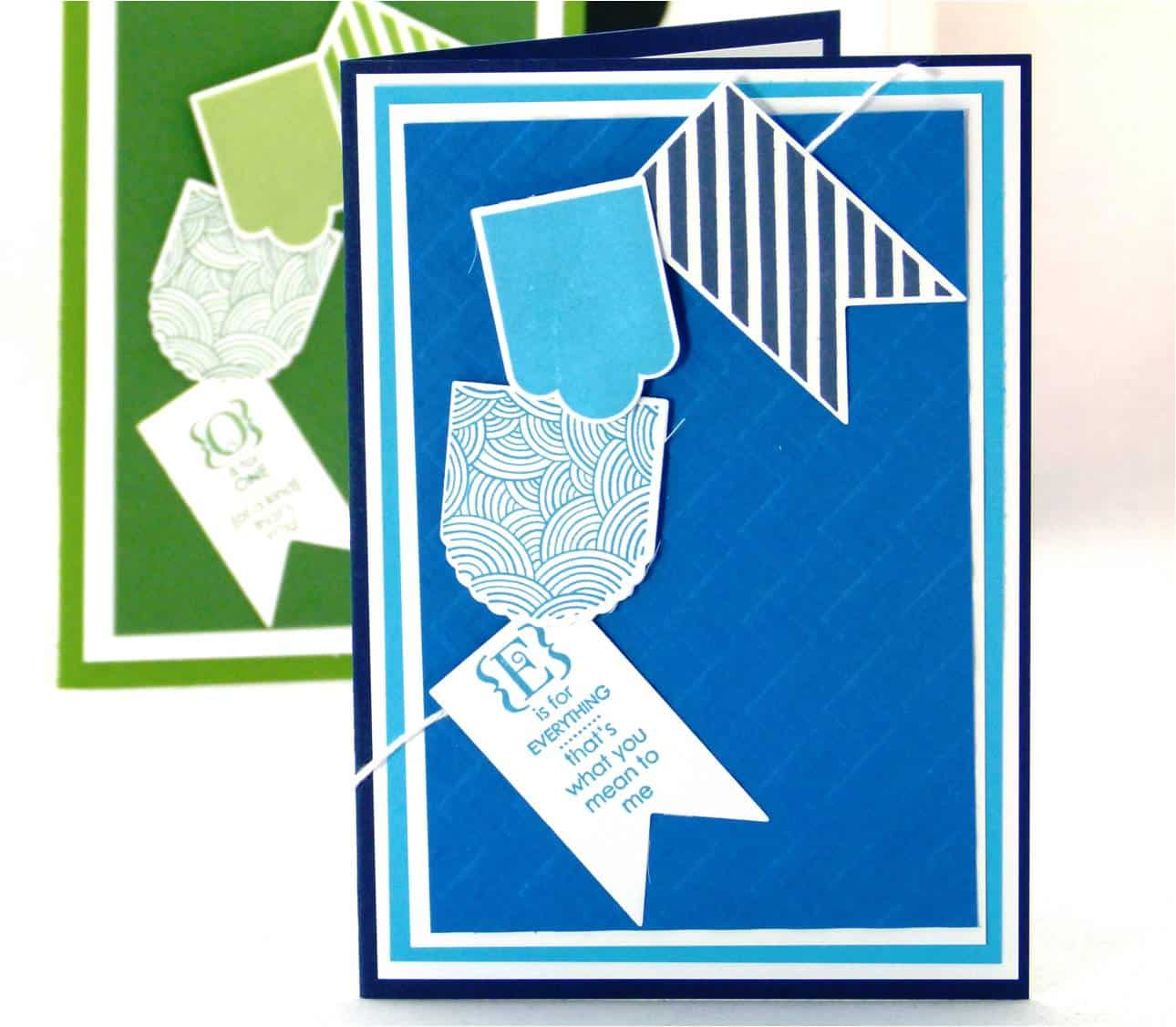 Stampin Up Masculine Hearts a Flutter Card