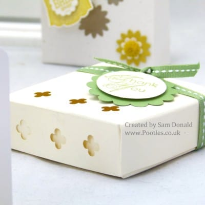 Stampin Up Fold Flat Soap Gift Treat Box with windows VIDEO