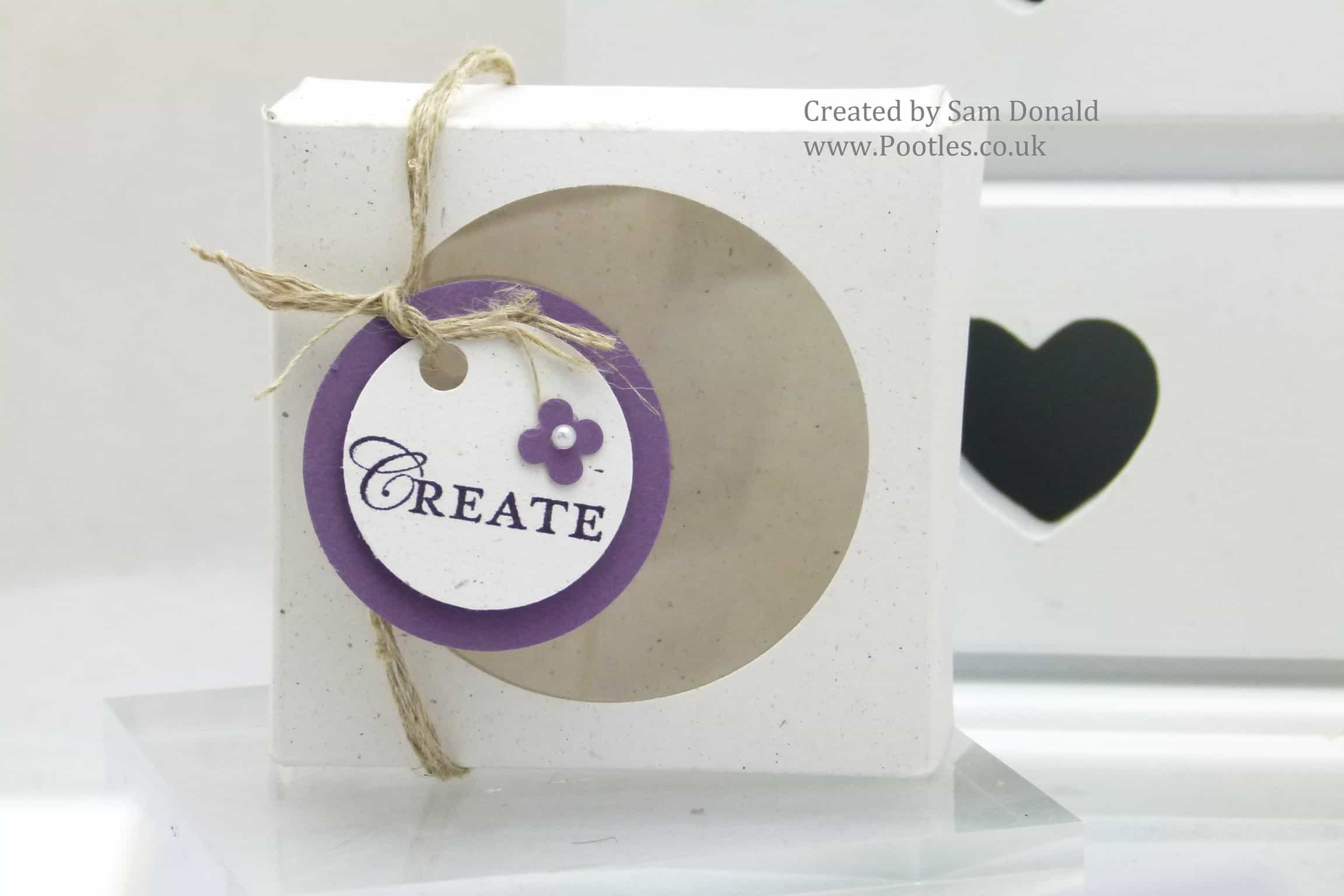 Stampin Up Soap Gift Treat Box with Windows 4