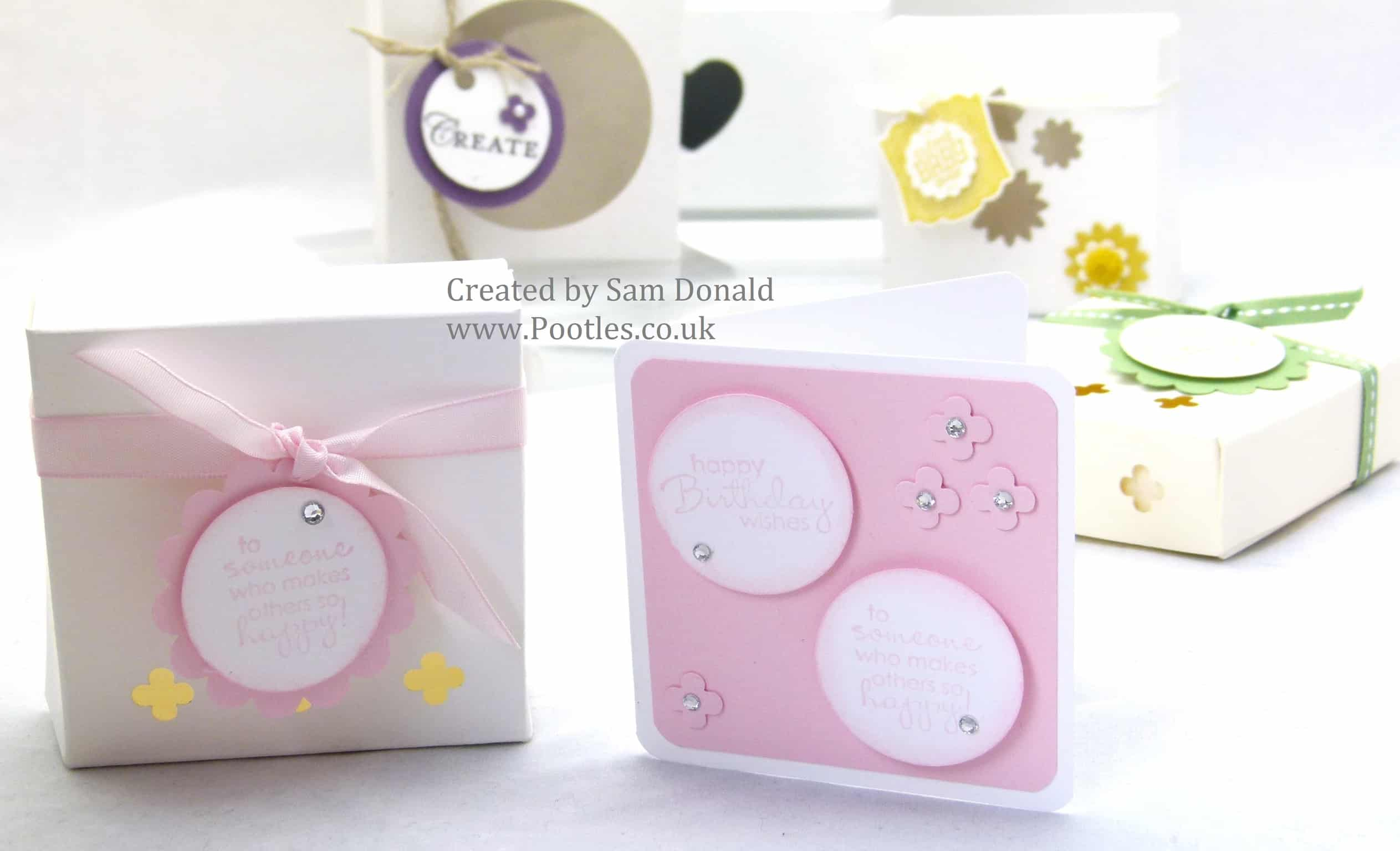 Stampin Up Soap Gift Treat Box with Windows
