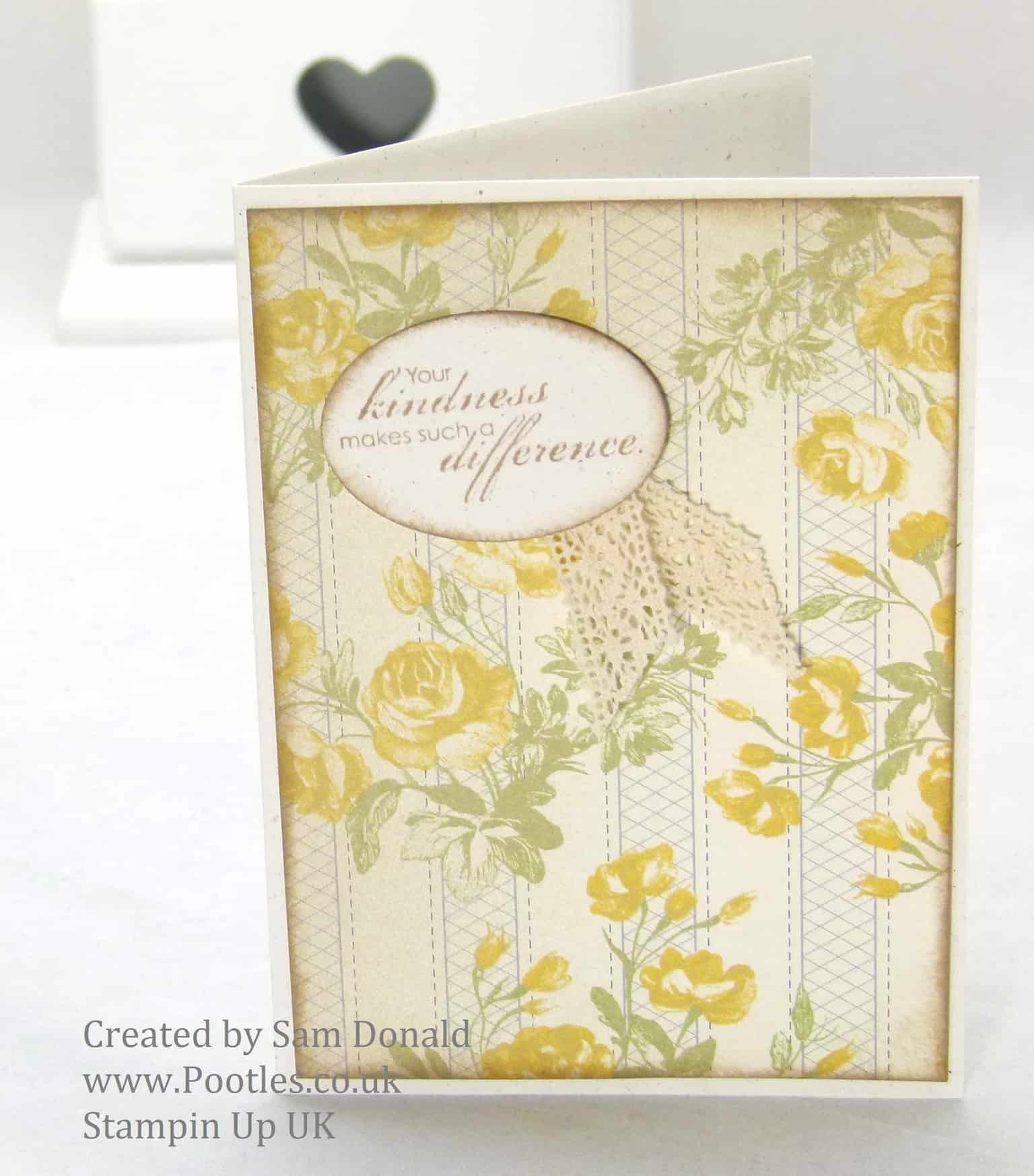 Pootles Stampin Up UK Afternoon Picnic Gentle Card