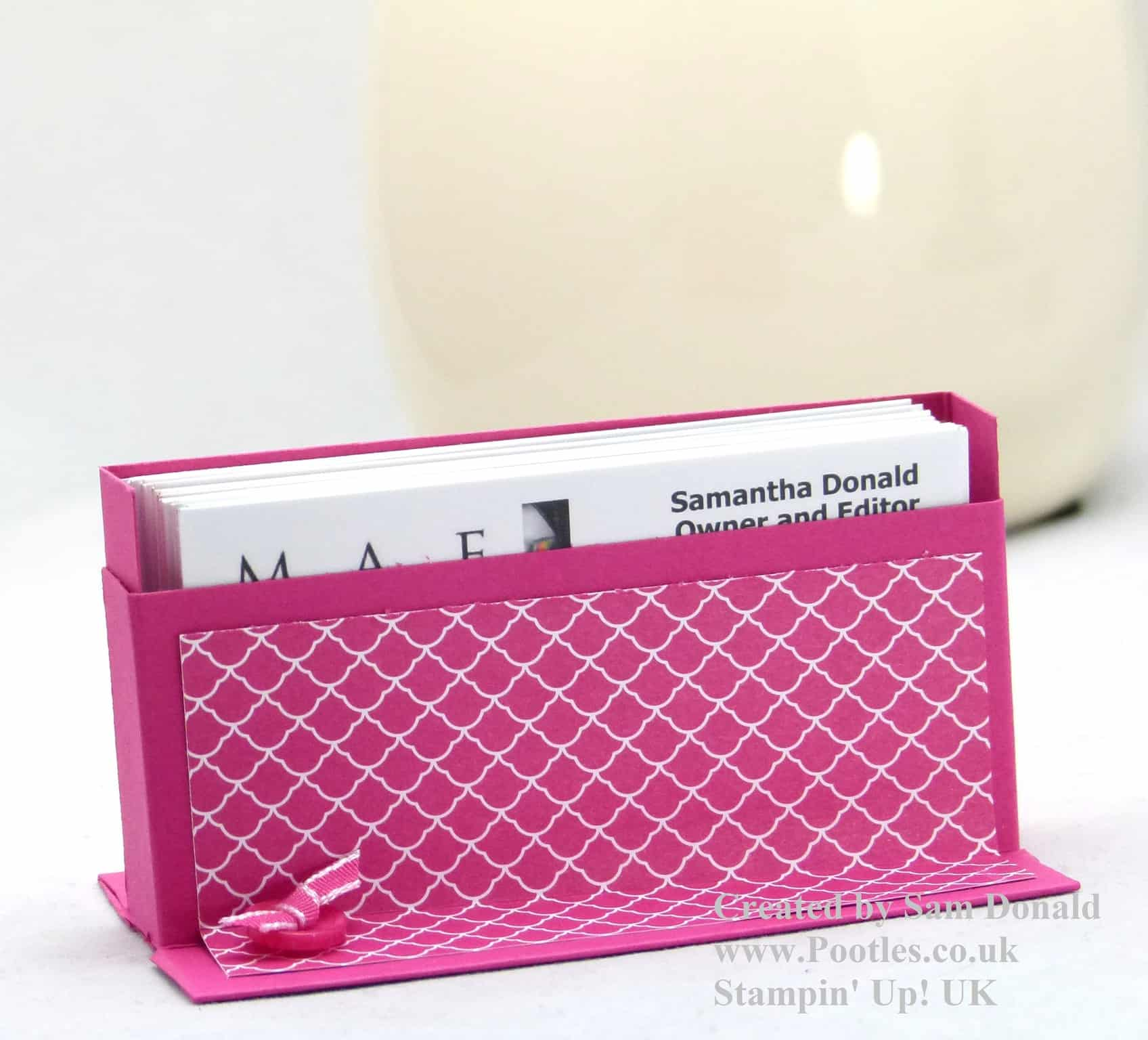 Stampin\' Up! UK Business Card Holder Tutorial VIDEO
