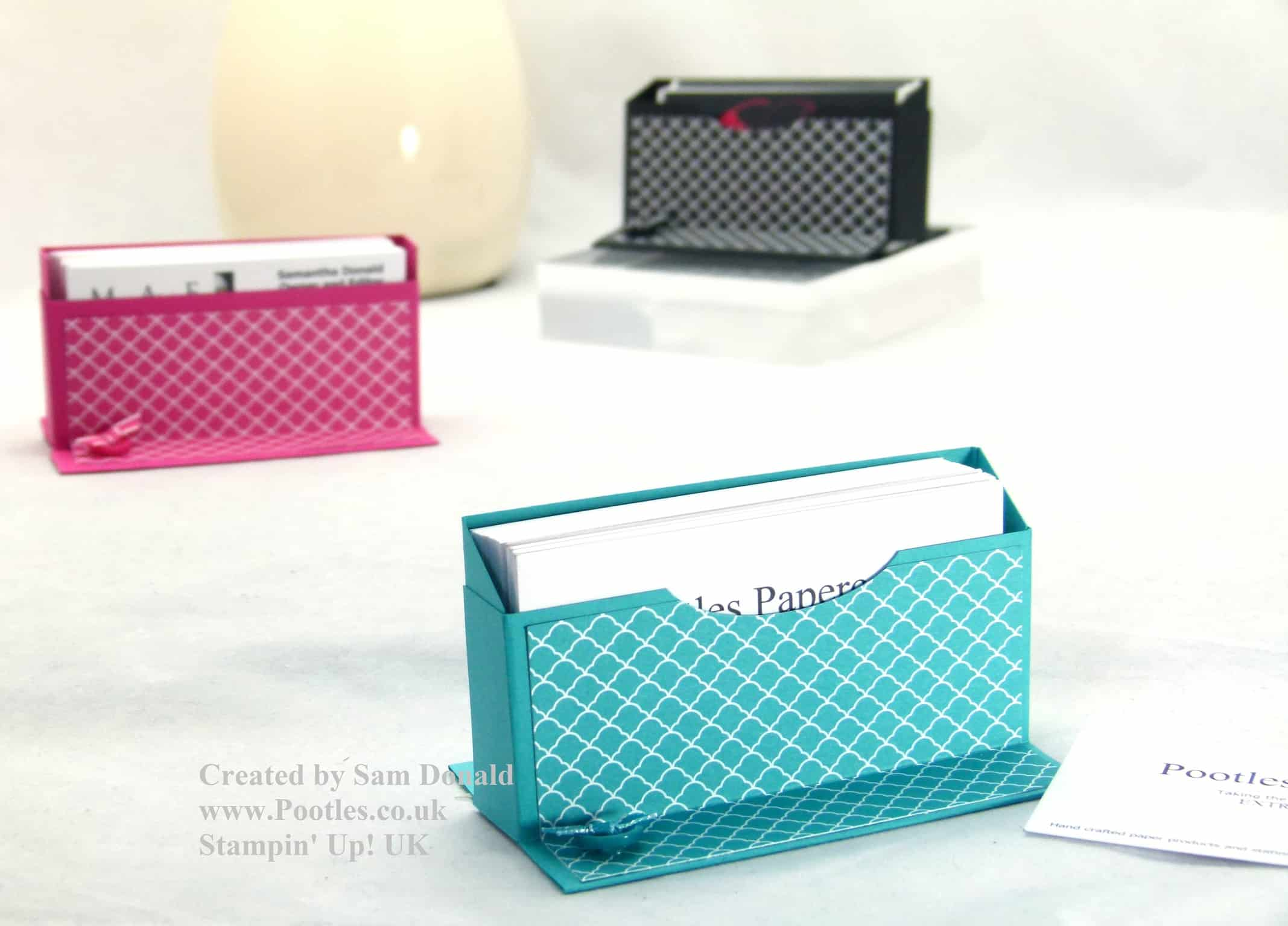Stampin up uk business card holder tutorial video reheart Images