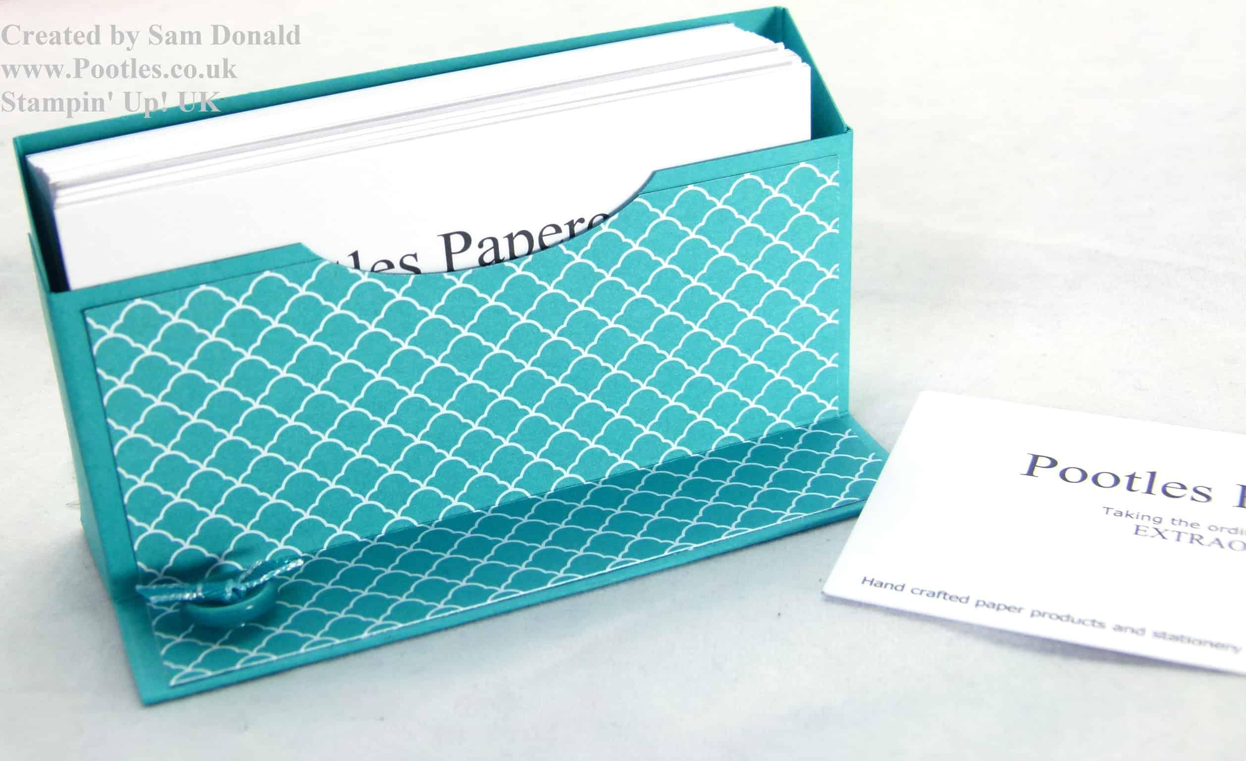 Pootles Stampin Up UK Business Card Holder tutorial (2)