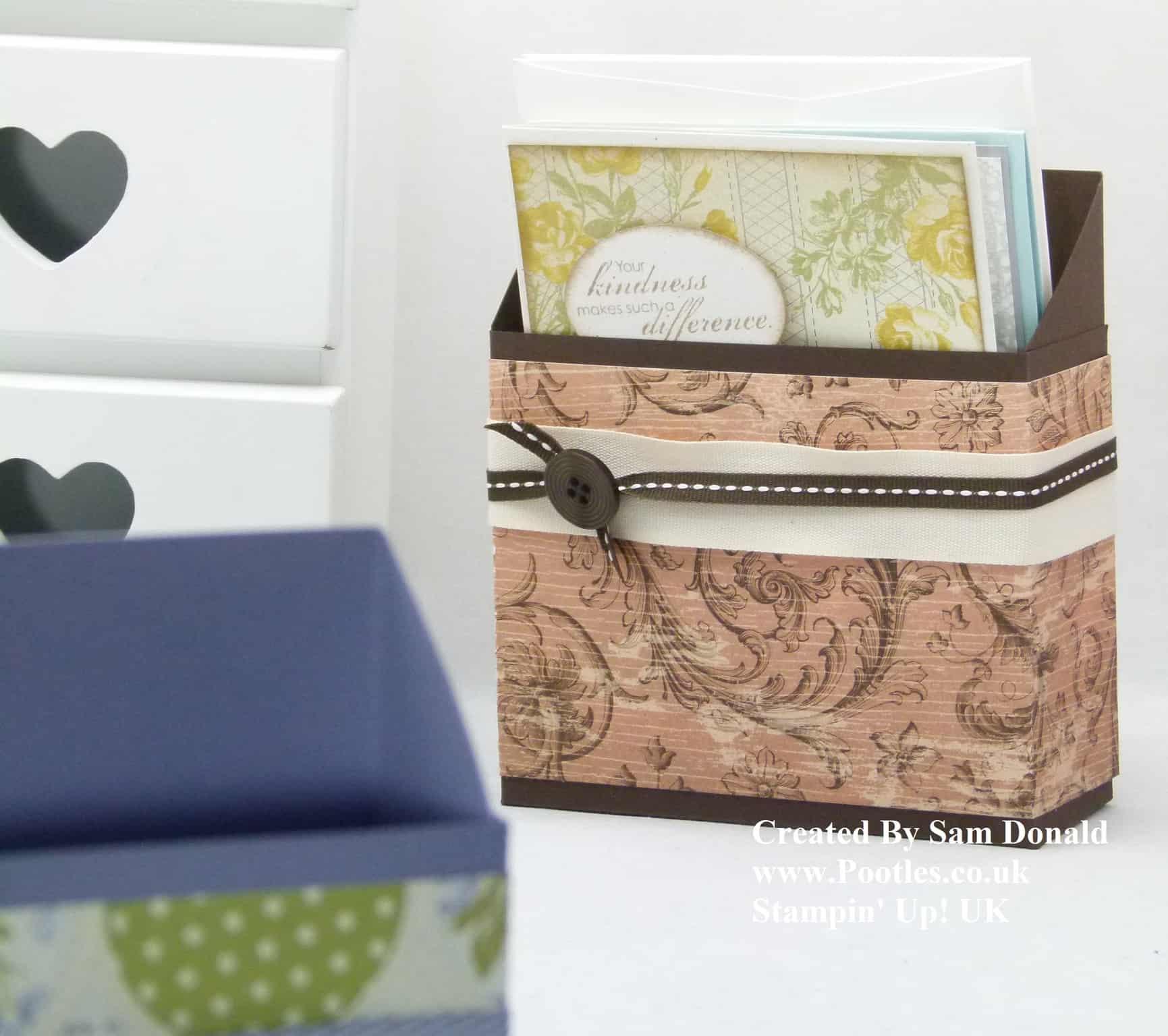 Stampin' Up! UK Card Holder Box Tutorial VIDEO