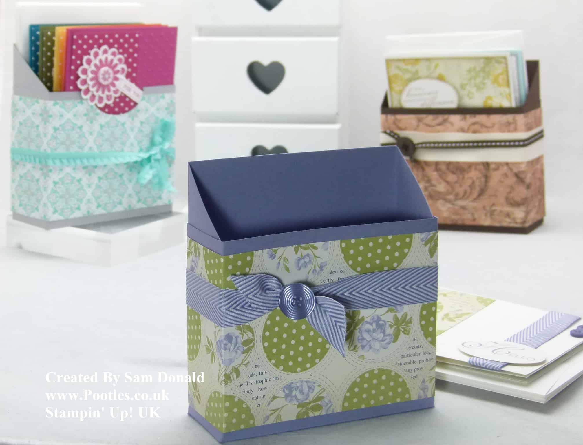 Pootles Stampin Up UK Card Holder Box Tutorial 2 (2)
