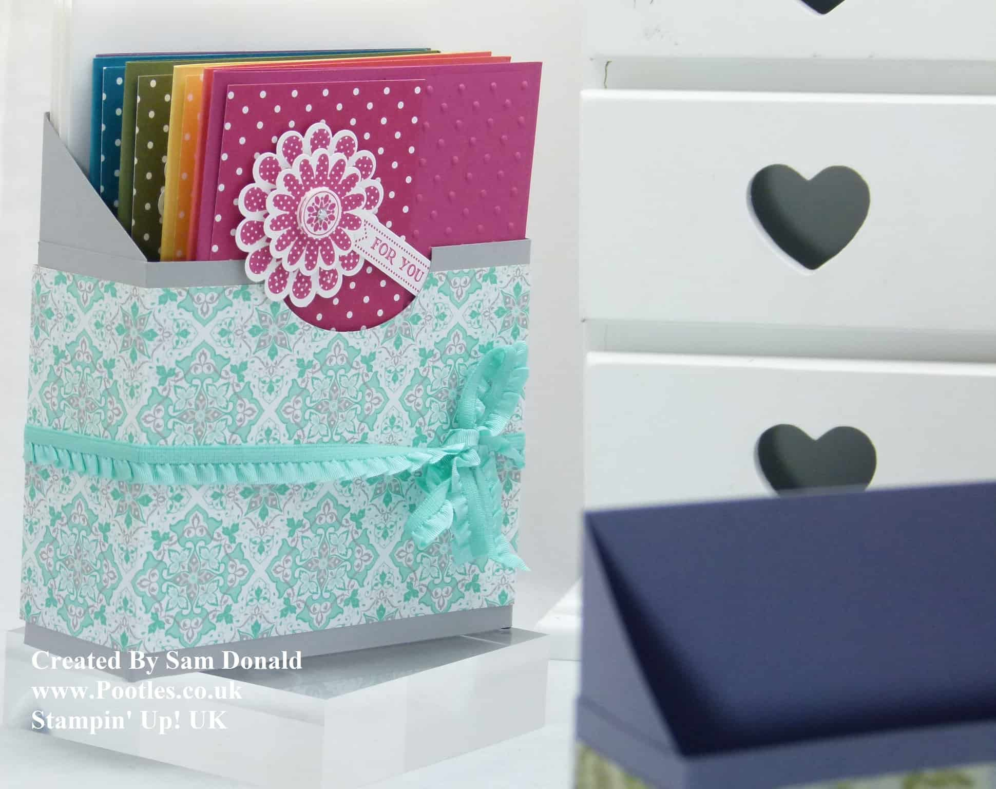 Pootles Stampin Up UK Card Holder Box Tutorial 3