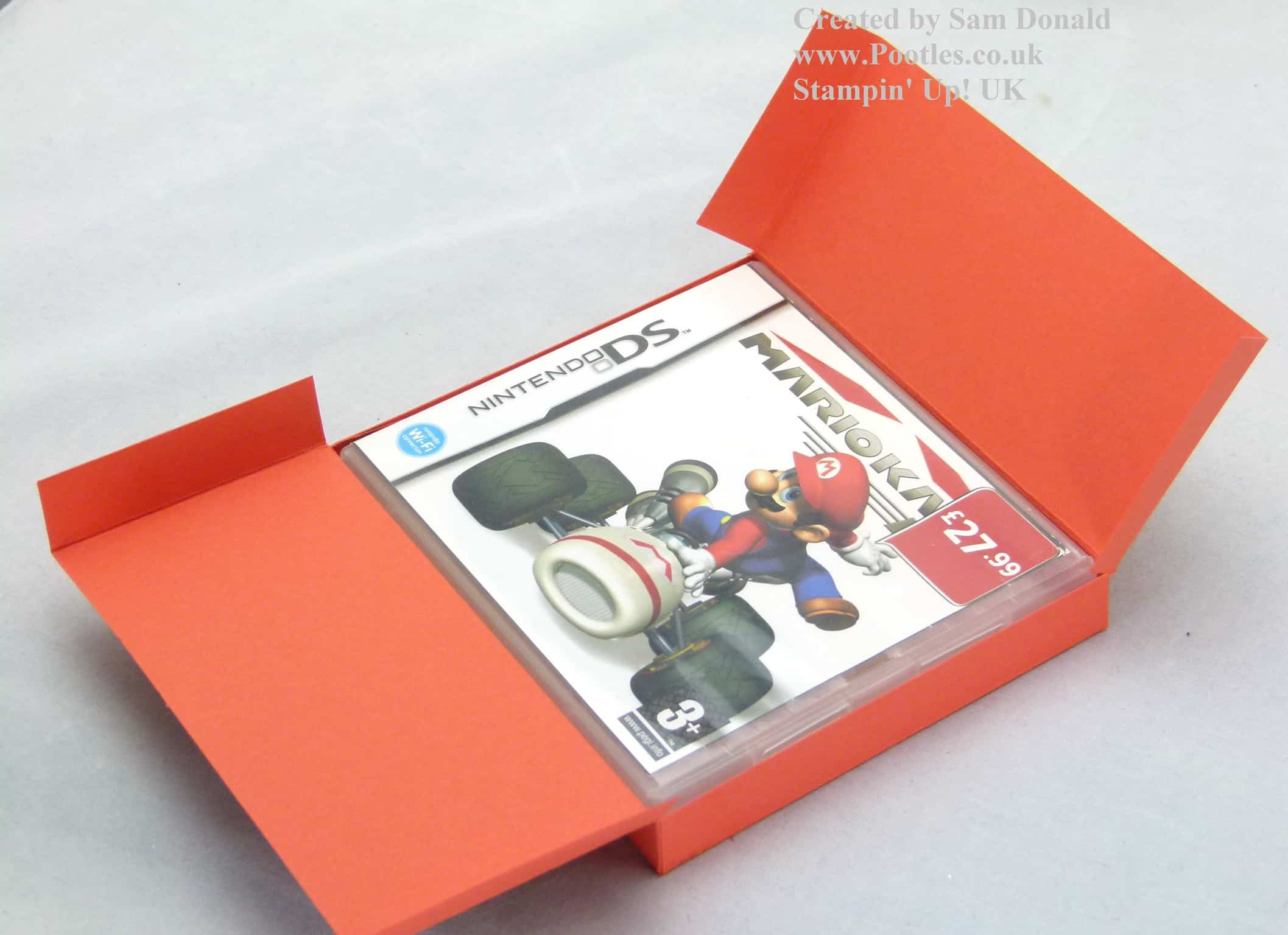 Stampin' Up! UK Nintendo DS Game Holder Tutorial VIDEO