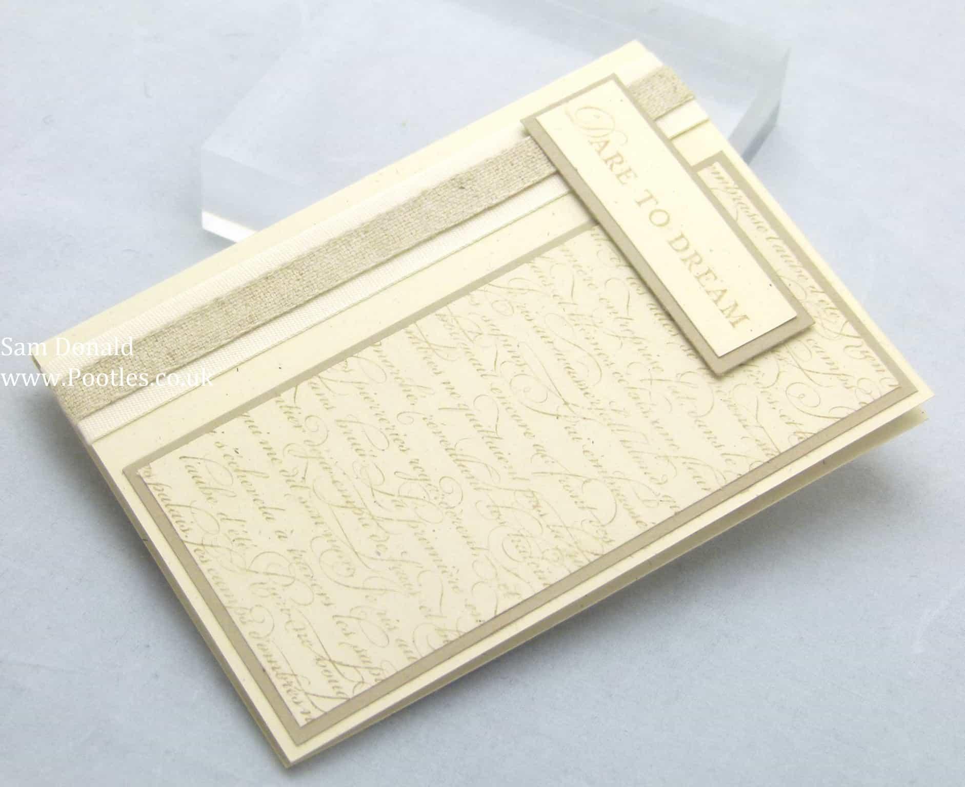 Pootles Stampin Up UK Notebook 2