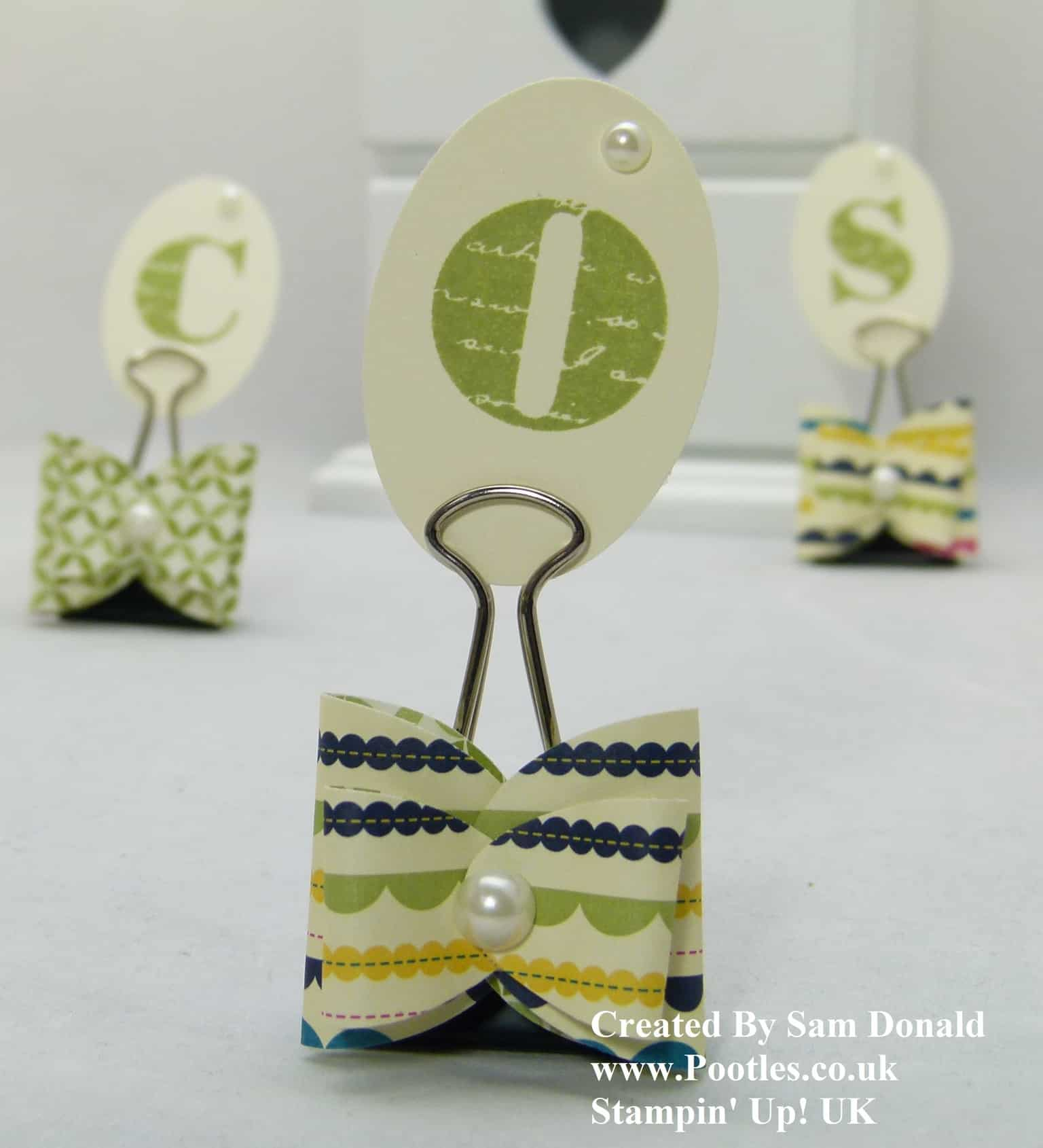 Pootles Stampin Up UK Punch Bow Tutorial