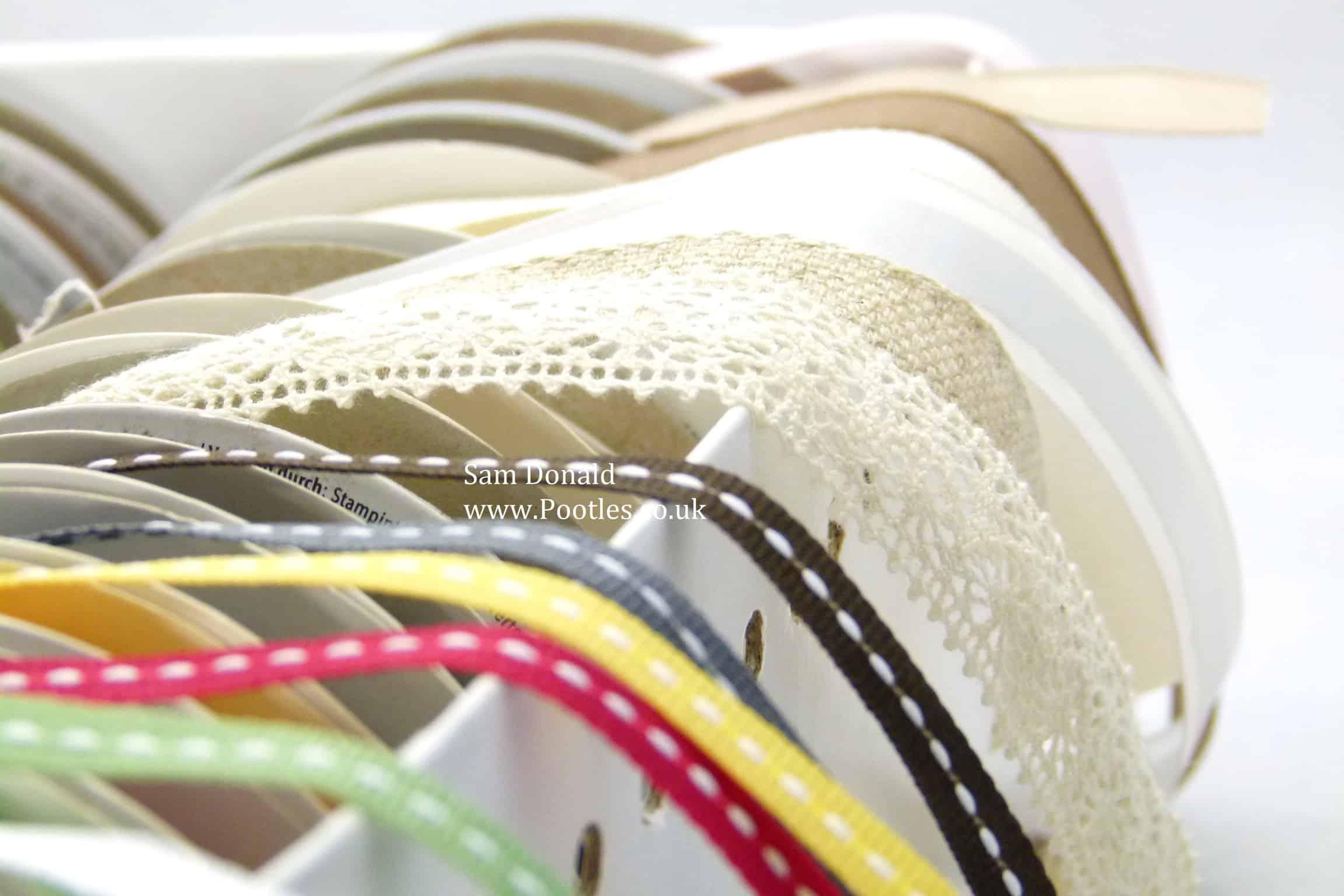 Pootles Stampin Up UK Ribbon Storage 3