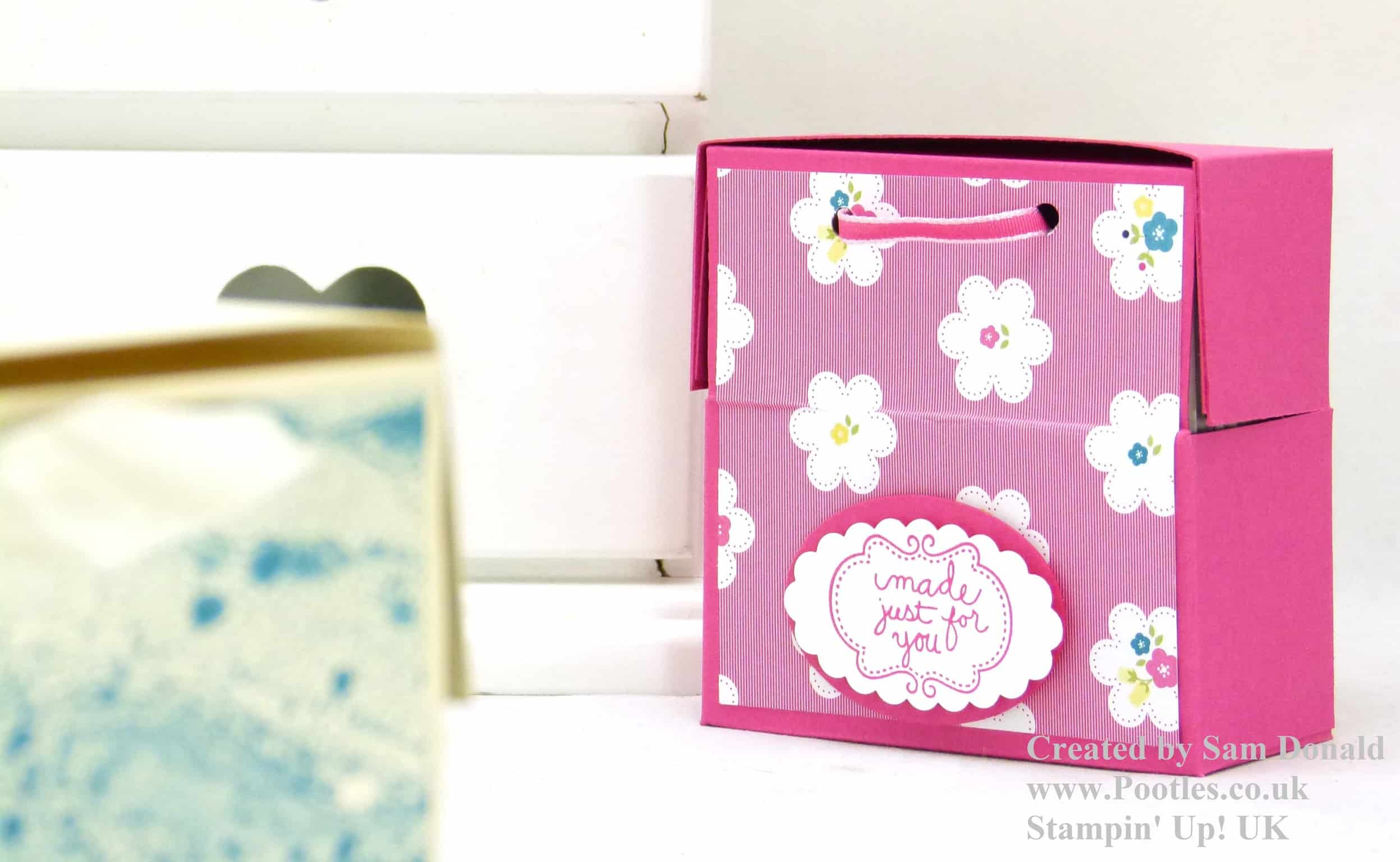 Stampin' Up! UK Soap or 3×3 Card Box. And a fit of the giggles… VIDEO