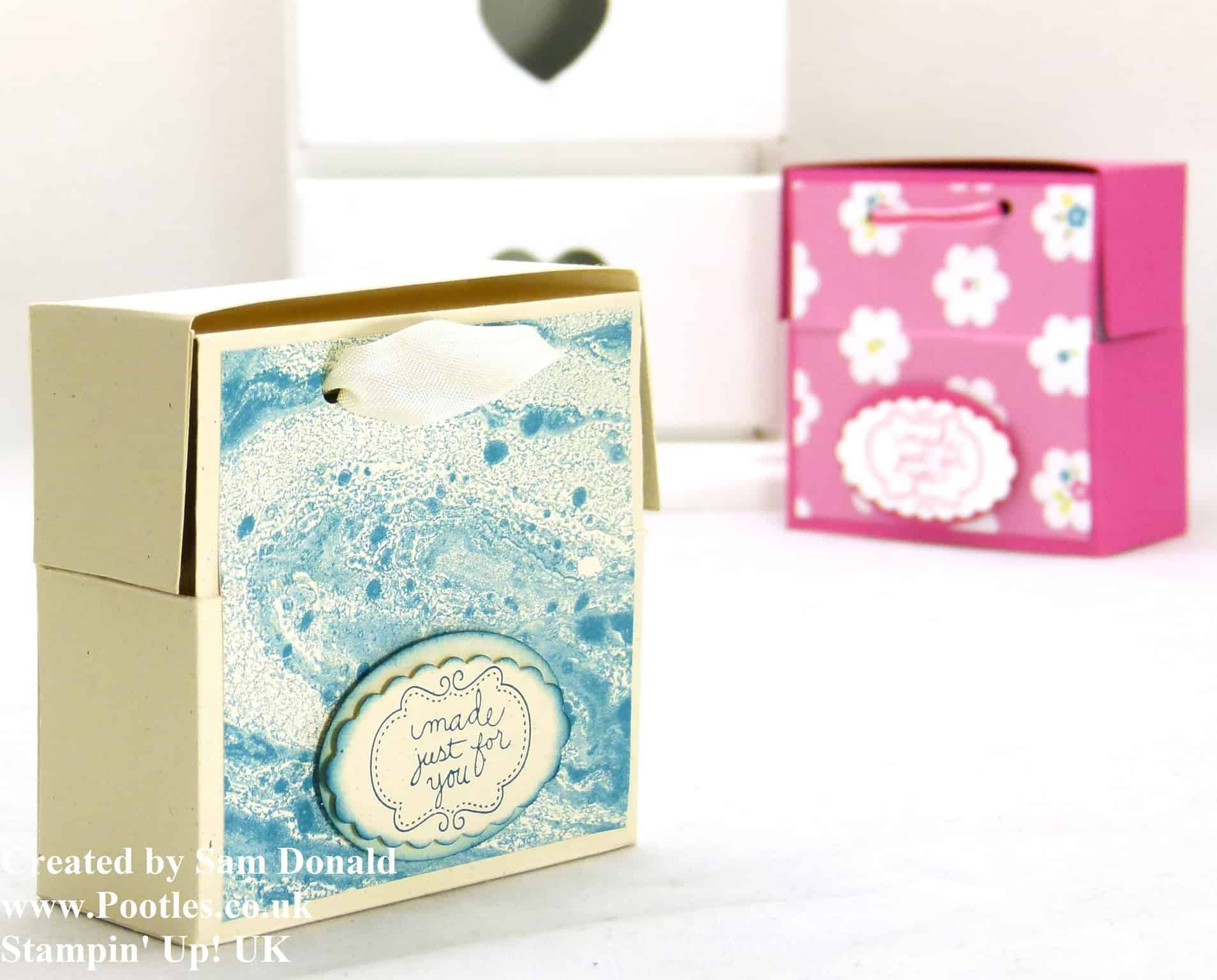Pootles Stampin Up UK Soap and Card Box Tutorial (2)