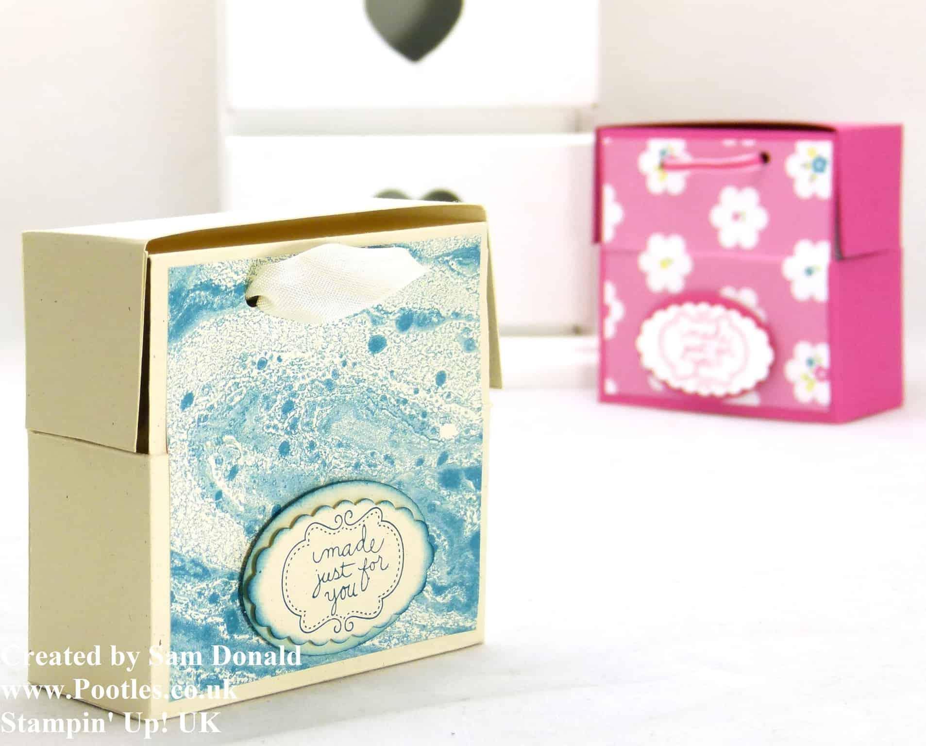 Pootles Stampin Up UK Soap and Card Box Tutorial (2)