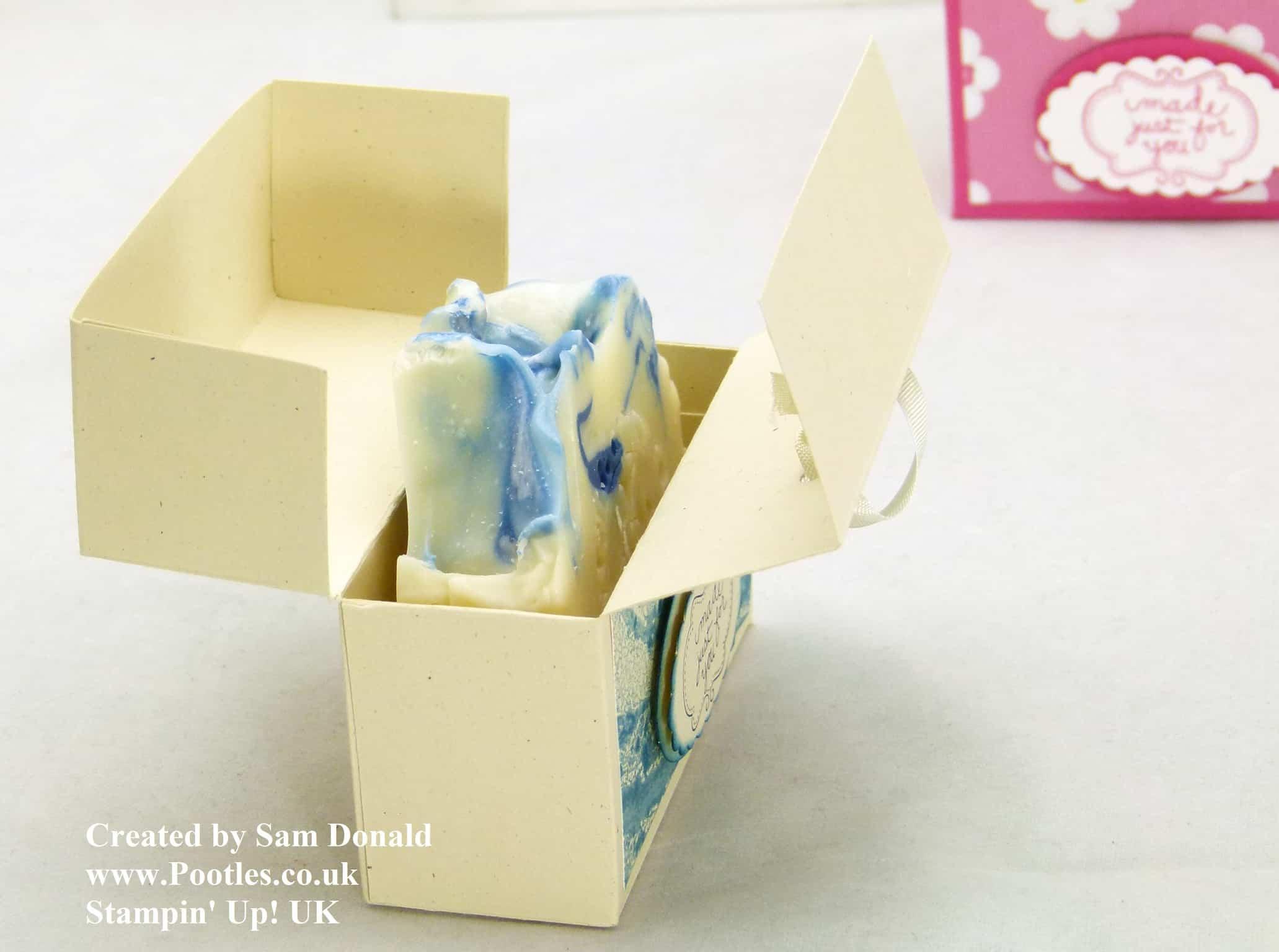 Pootles Stampin Up UK Soap and Card Box Tutorial 3