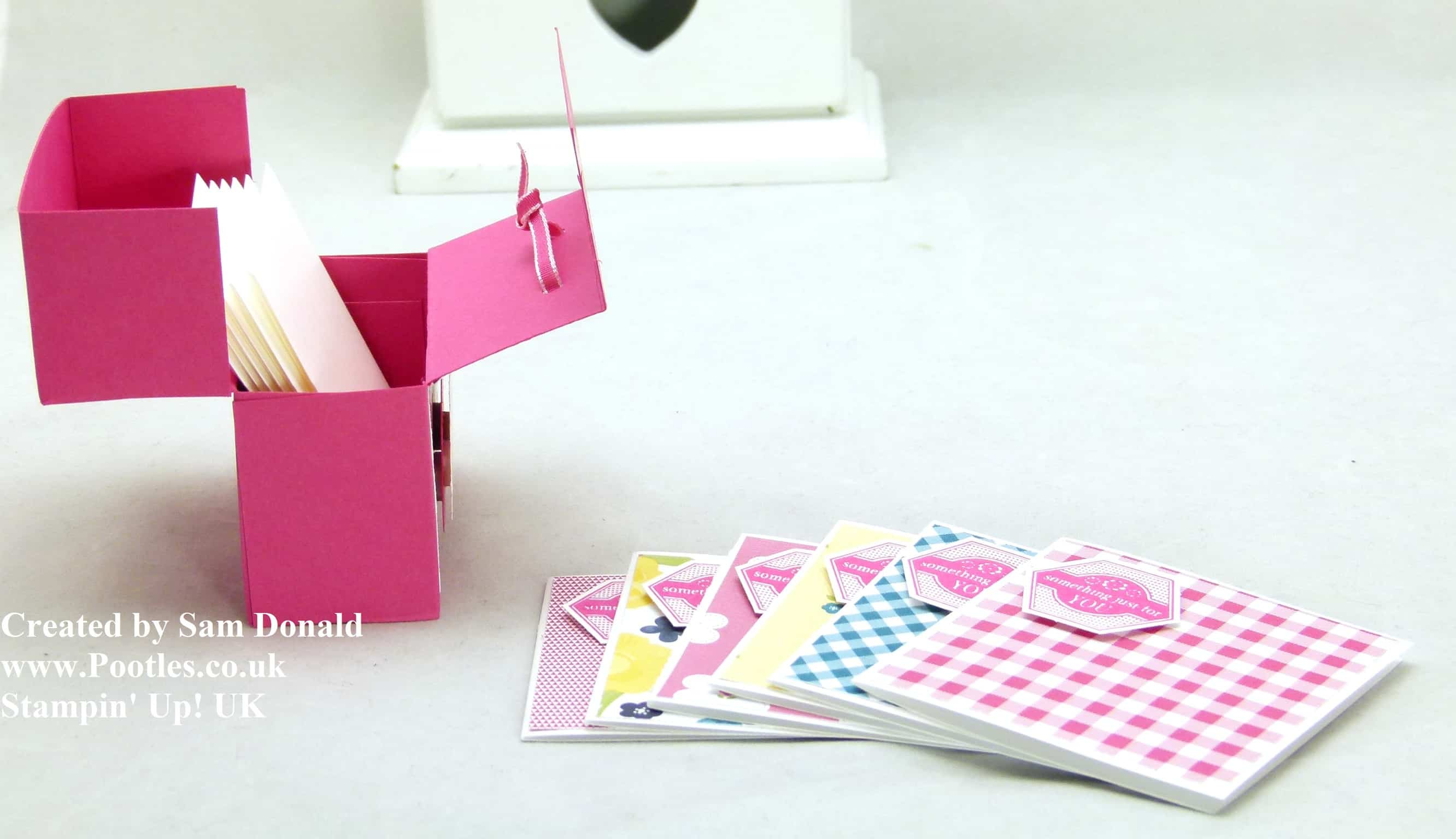 Pootles Stampin Up UK Soap and Card Box Tutorial 4
