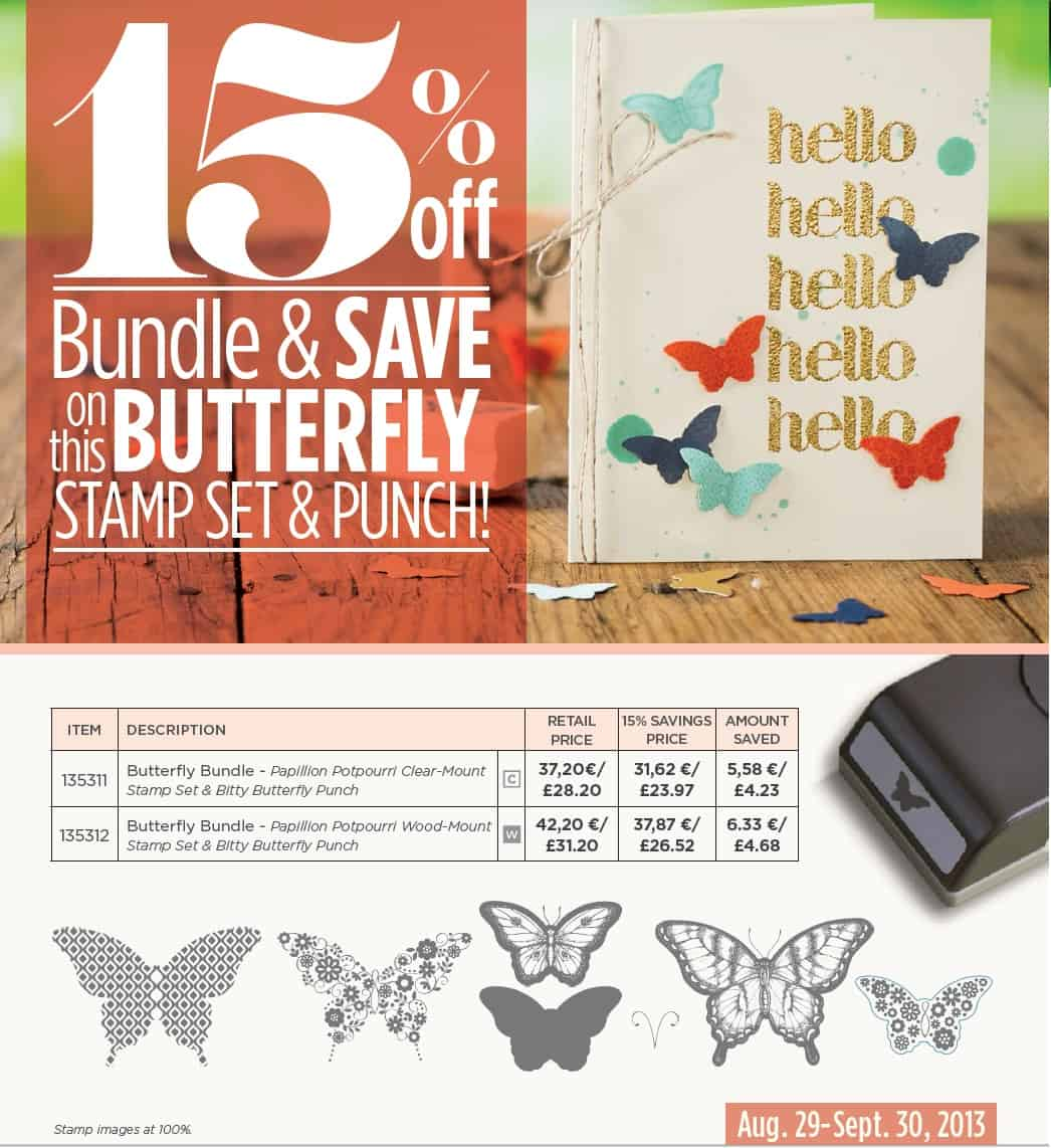 Butterfly Stamp and Punch Bundle Offer