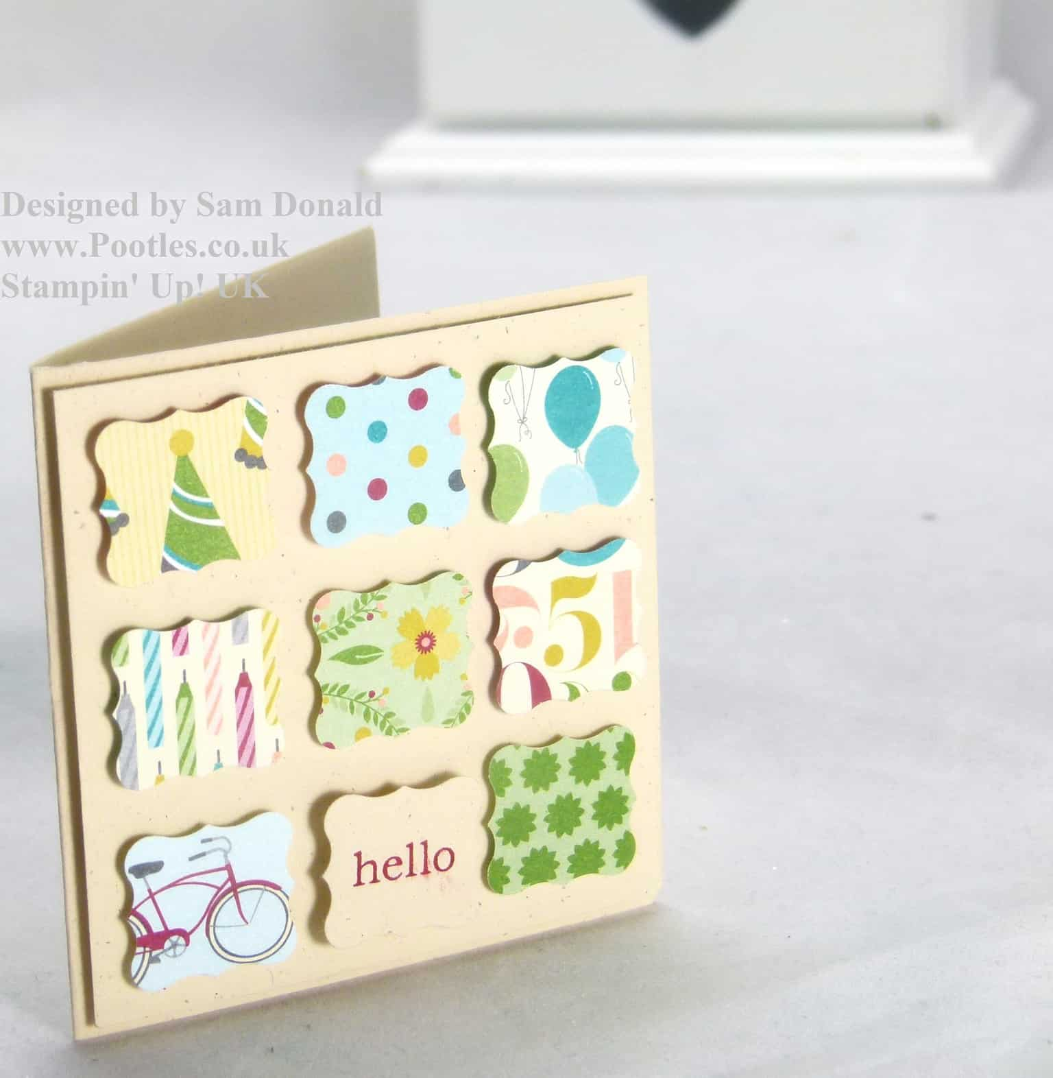 Pootles Stampin Up Birthday Basics Quick Card 2