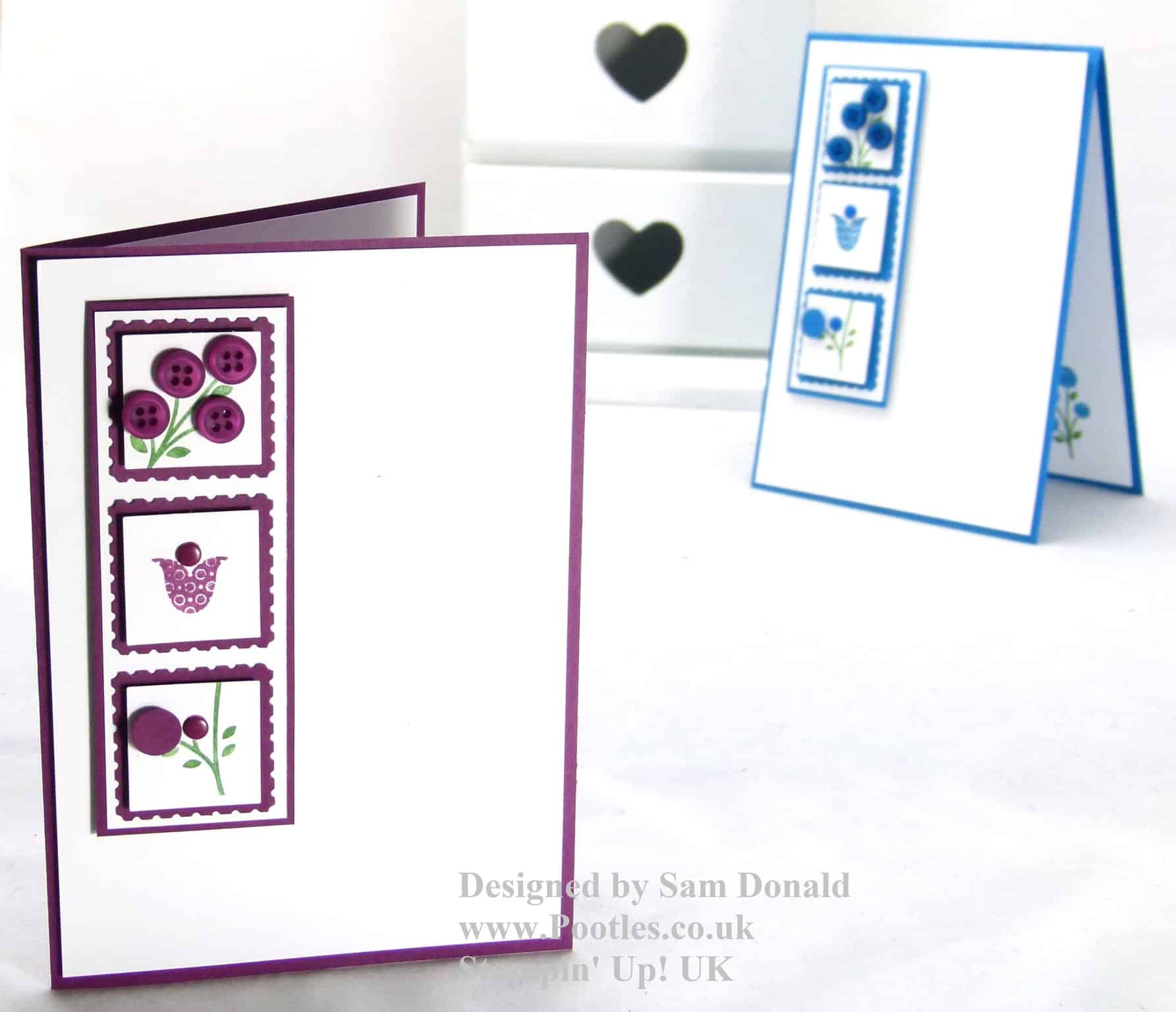 Pootles Stampin Up Bright Blossoms Tutorial