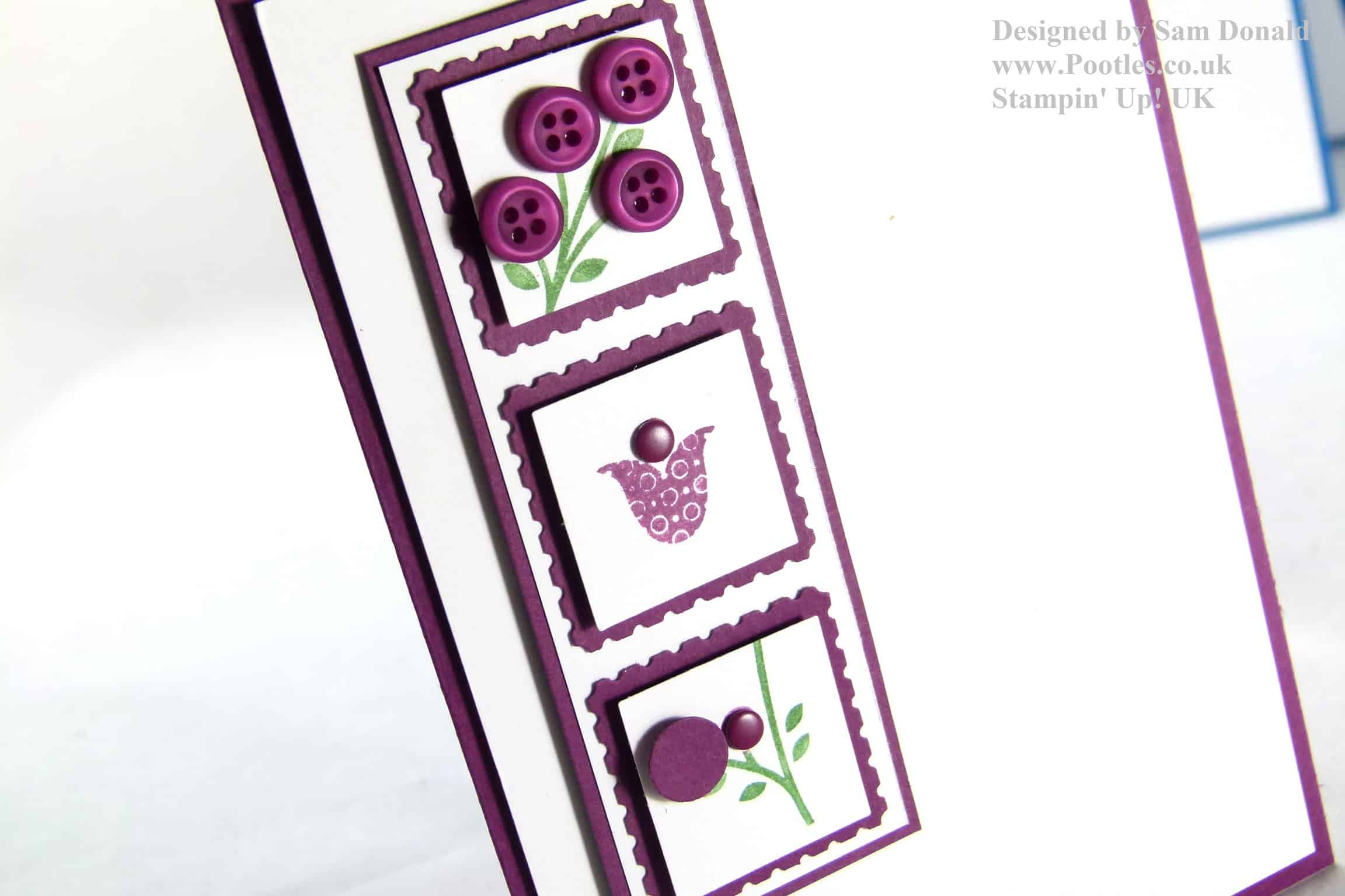 Pootles Stampin Up Bright Blossoms Tutorial2