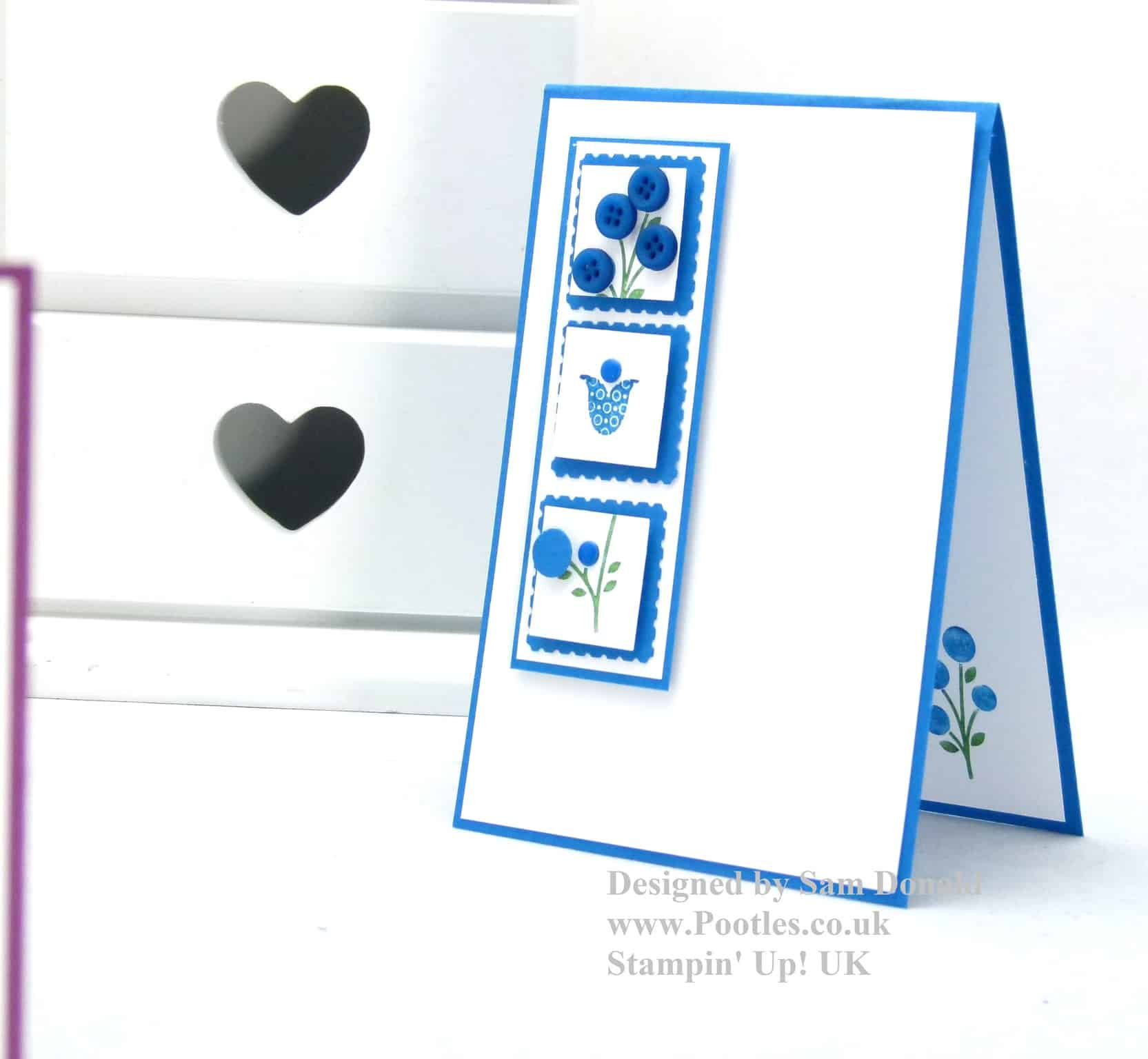 Pootles Stampin Up Bright Blossoms Tutorial3
