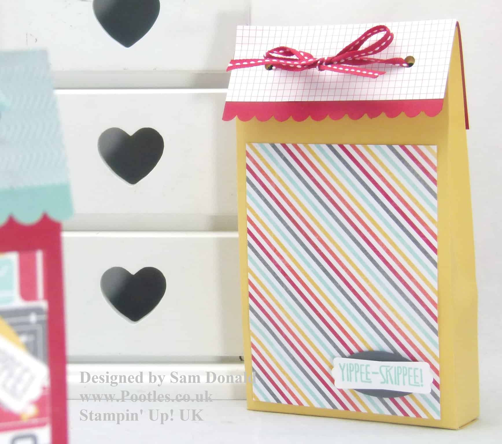 Pootles Stampin Up Tall Skinny Treat Pouch 2