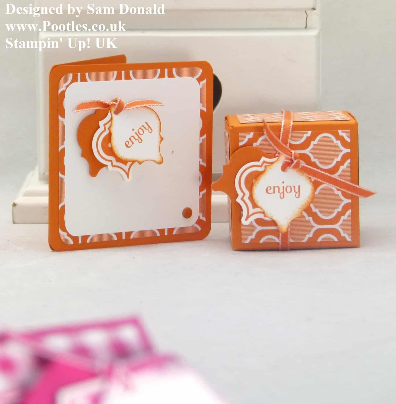 Pootles Stampin Up UK 2x2x2 Cube Fold Flat Favour Box 3