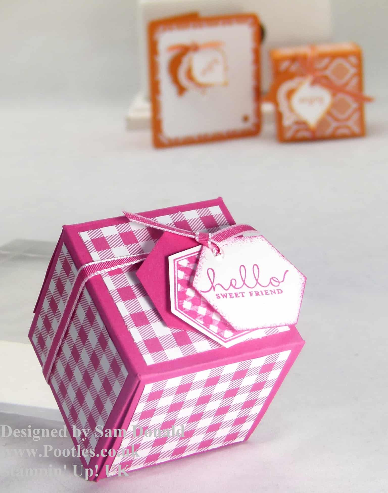 Pootles Stampin Up UK 2x2x2 Cube Fold Flat Favour Box 4