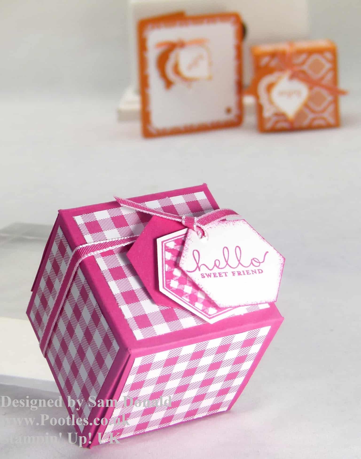 Pootles Stampin Up UK 2x2x2 Cube Fold Flat Favour Box 4