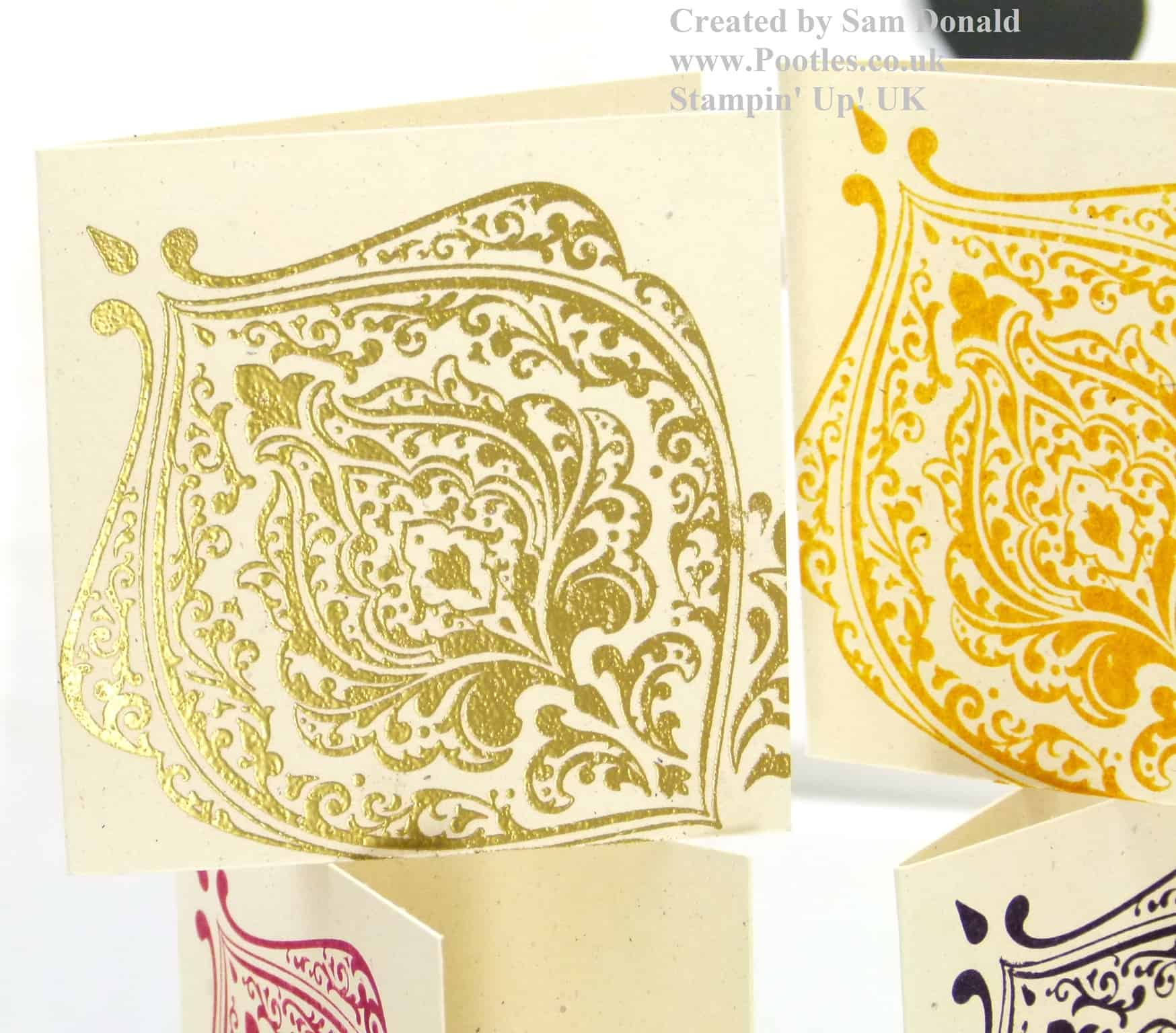 Pootles Stampin Up UK Beautifully Baroque Mini Cards 2
