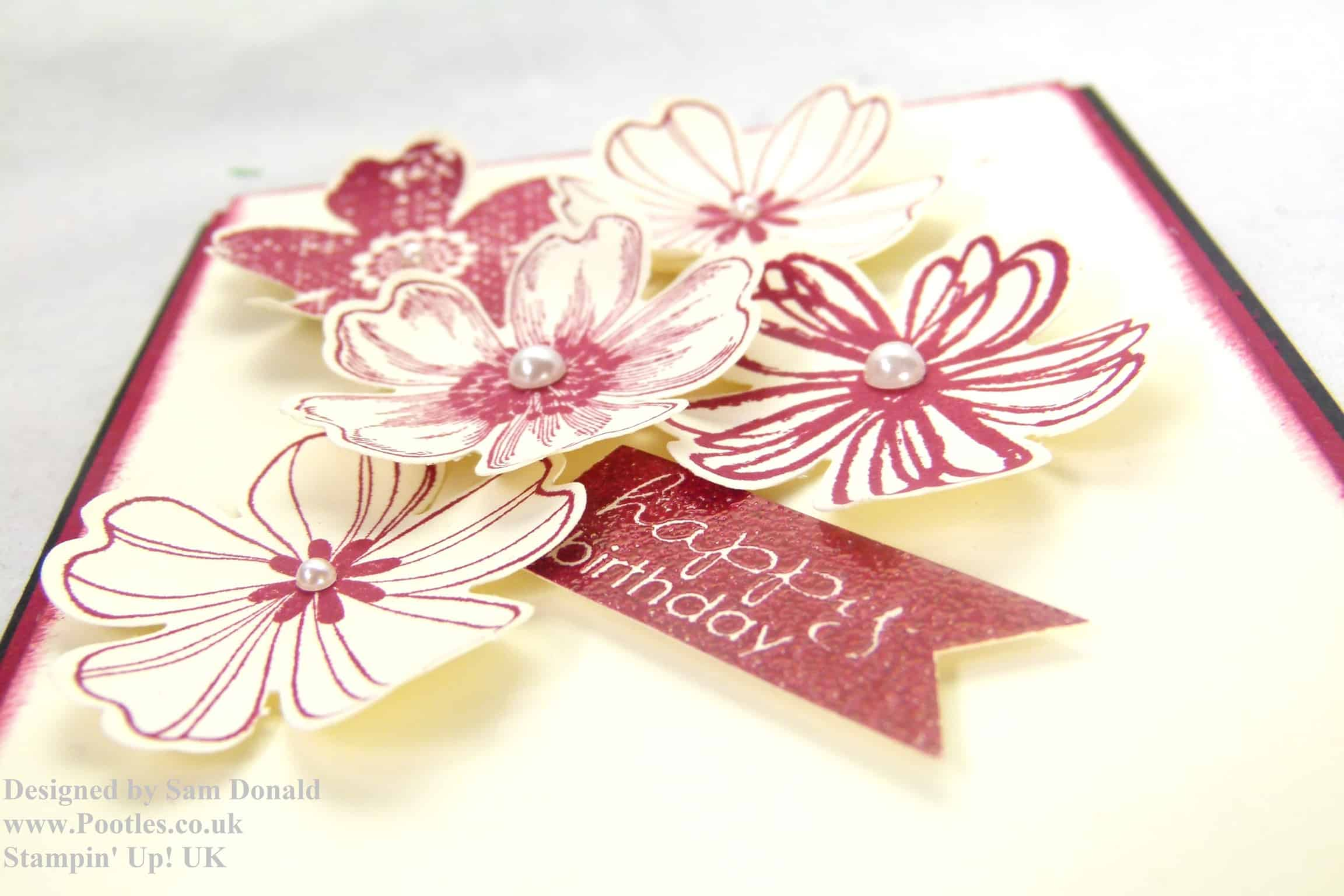 Pootles Stampin Up Uk Bunch Of Birthday Flowers