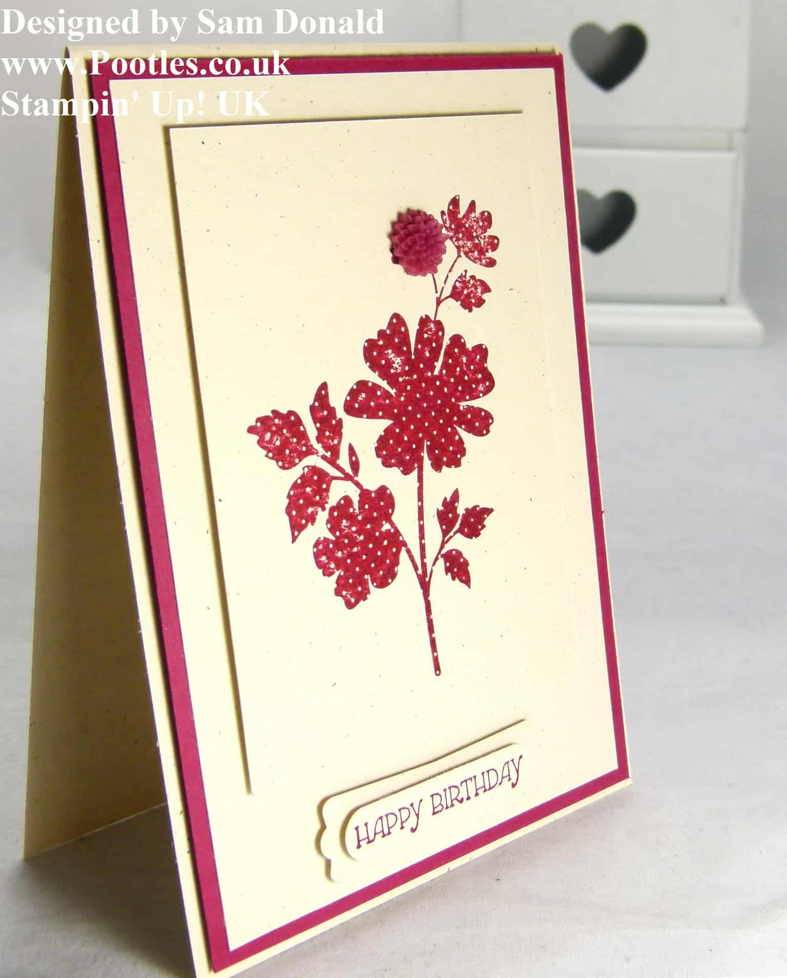 Pootles Stampin Up UK Gifts of Kindness Birthday Card
