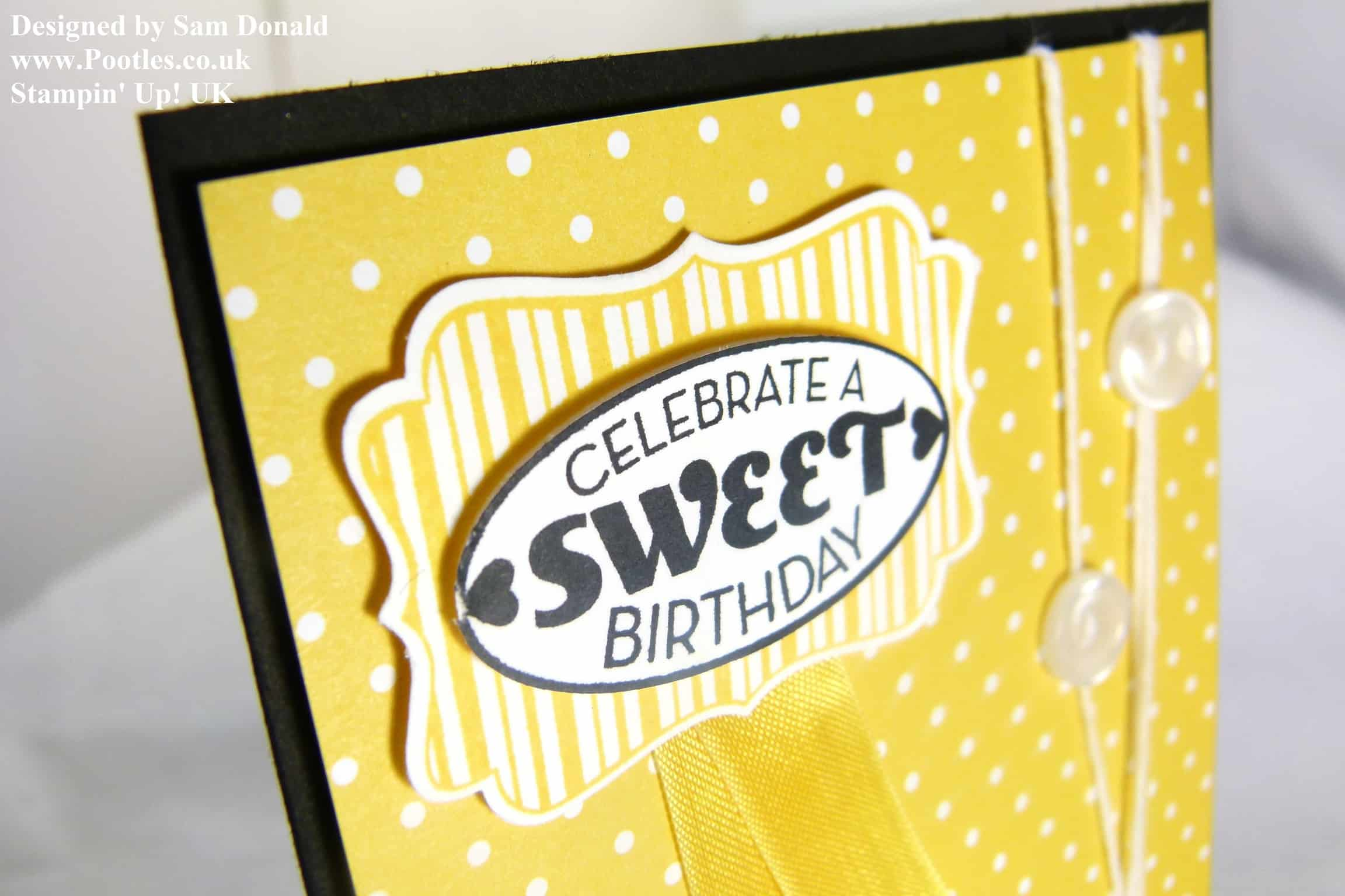 Pootles Stampin Up UK Jacobs Cycle Celebration Birthday Card