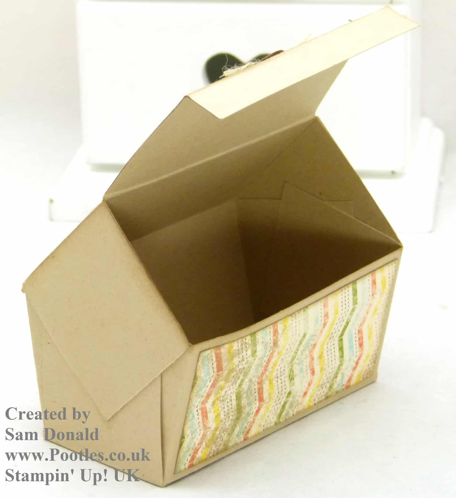 Pootles Stampin Up UK Pentagonal Treasure Chest Keepsake Box Tutorial 3
