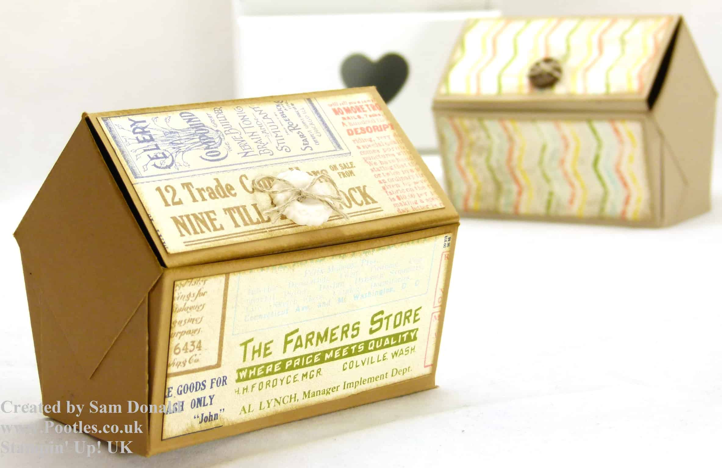 Pootles Stampin Up UK Pentagonal Treasure Chest Keepsake Box Tutorial 4