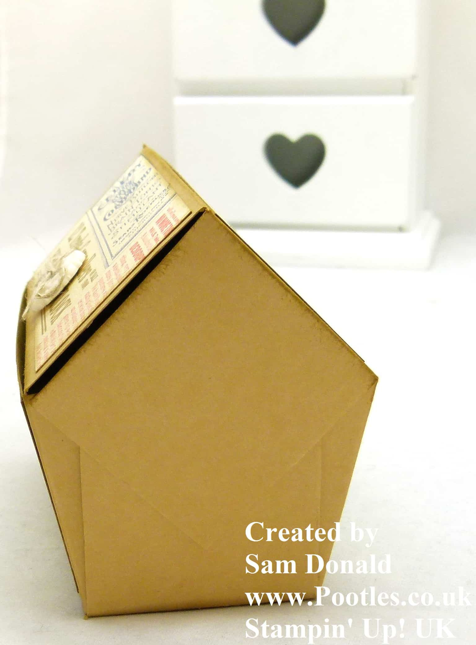 Pootles Stampin Up UK Pentagonal Treasure Chest Keepsake Box Tutorial