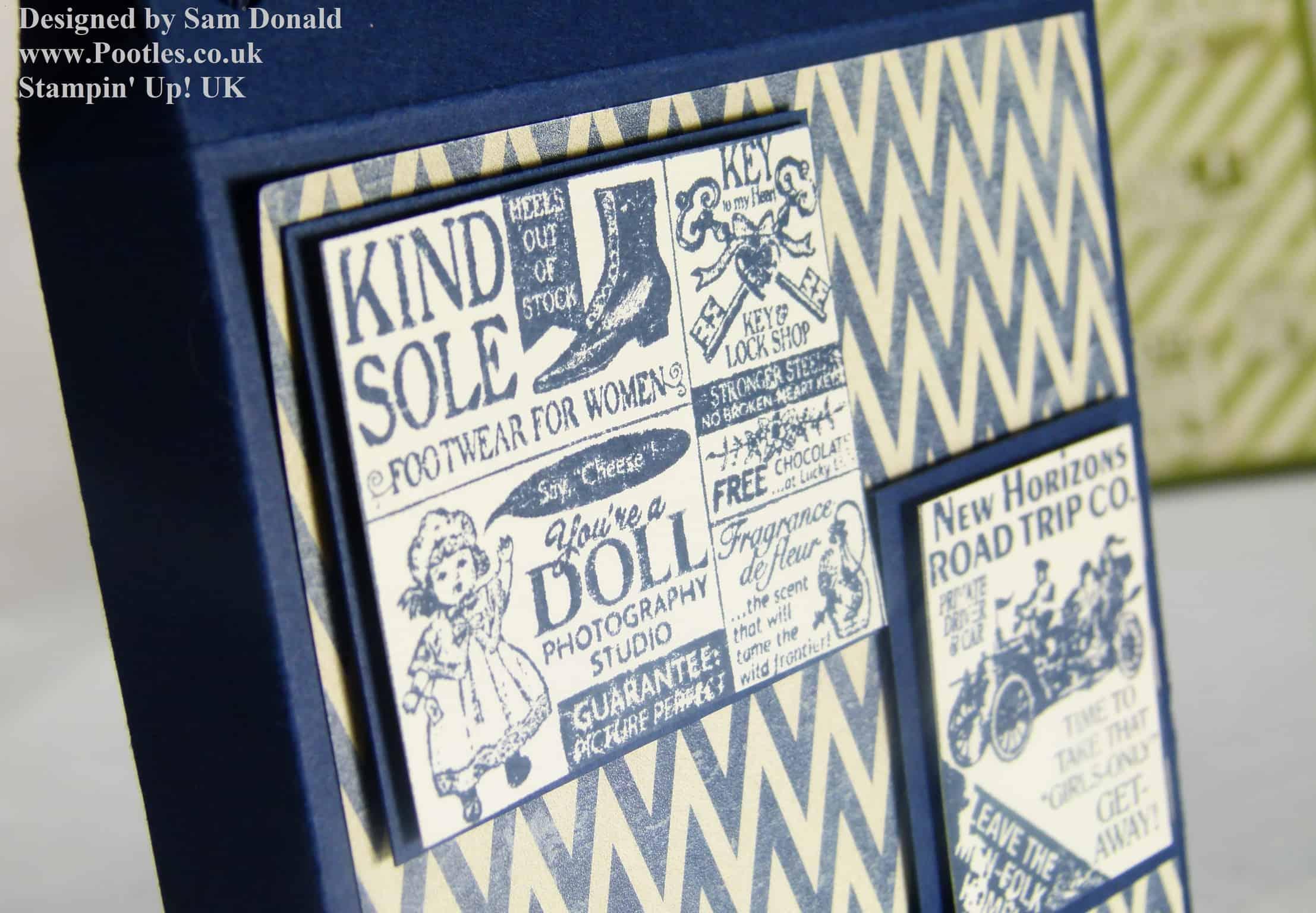 Pootles Stampin Up UK Shopping Bag Card Holder Tutorial