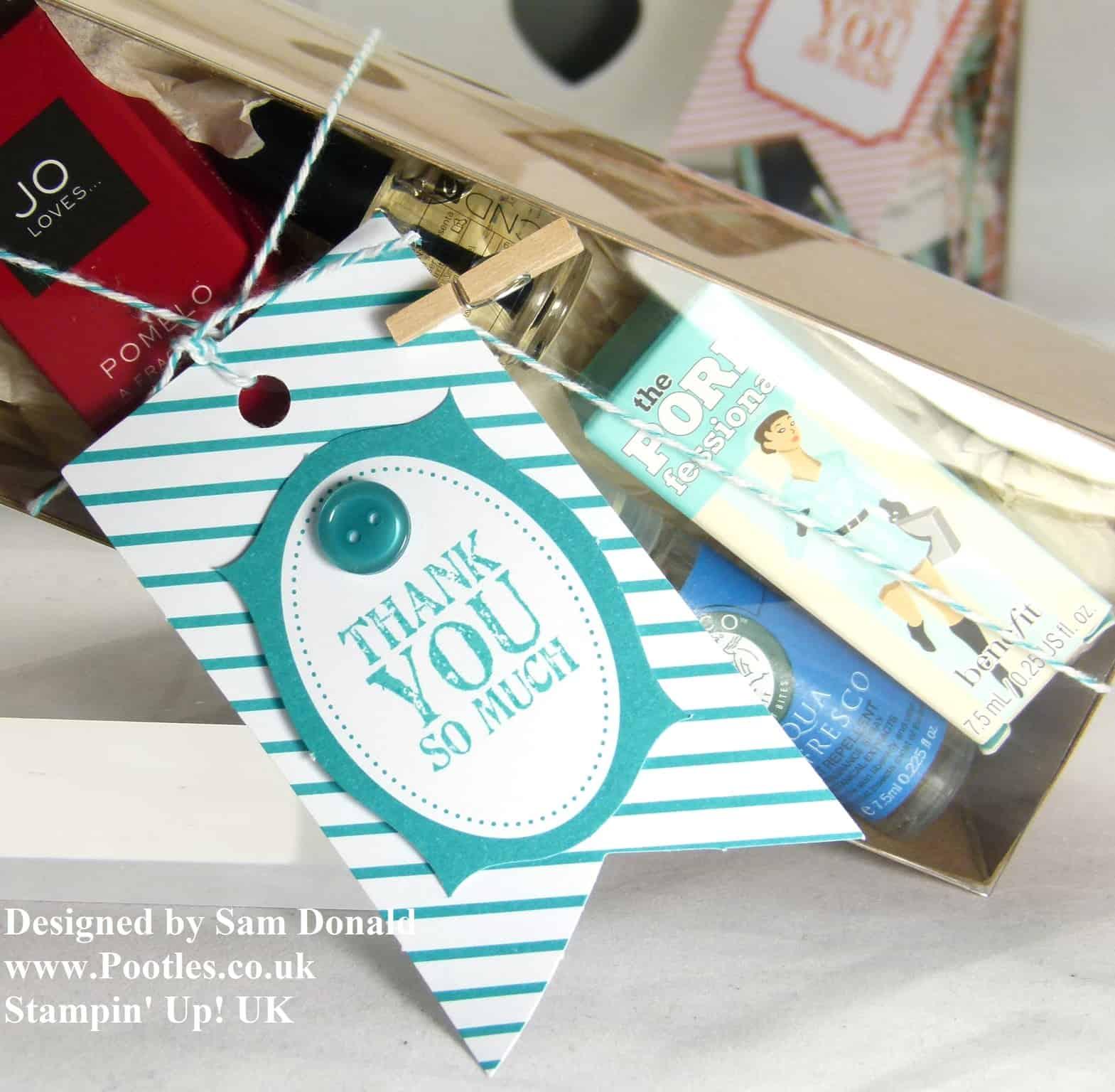 Pootles Stampin Up UK Tag a BEAUTY Box