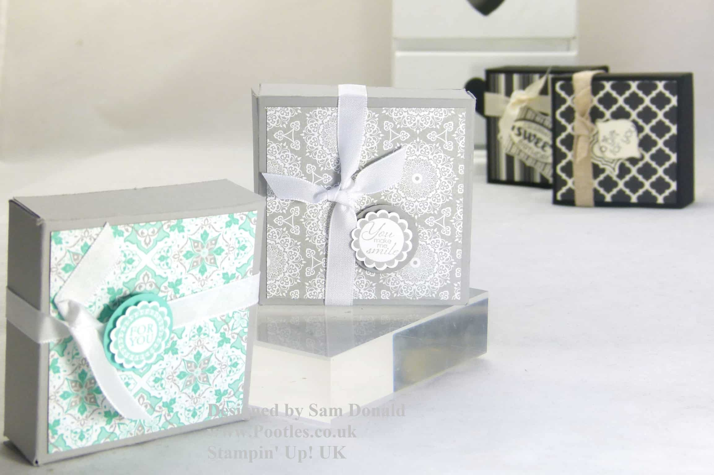 Stampin Up 2 Boxes from one piece of Cardstock 3