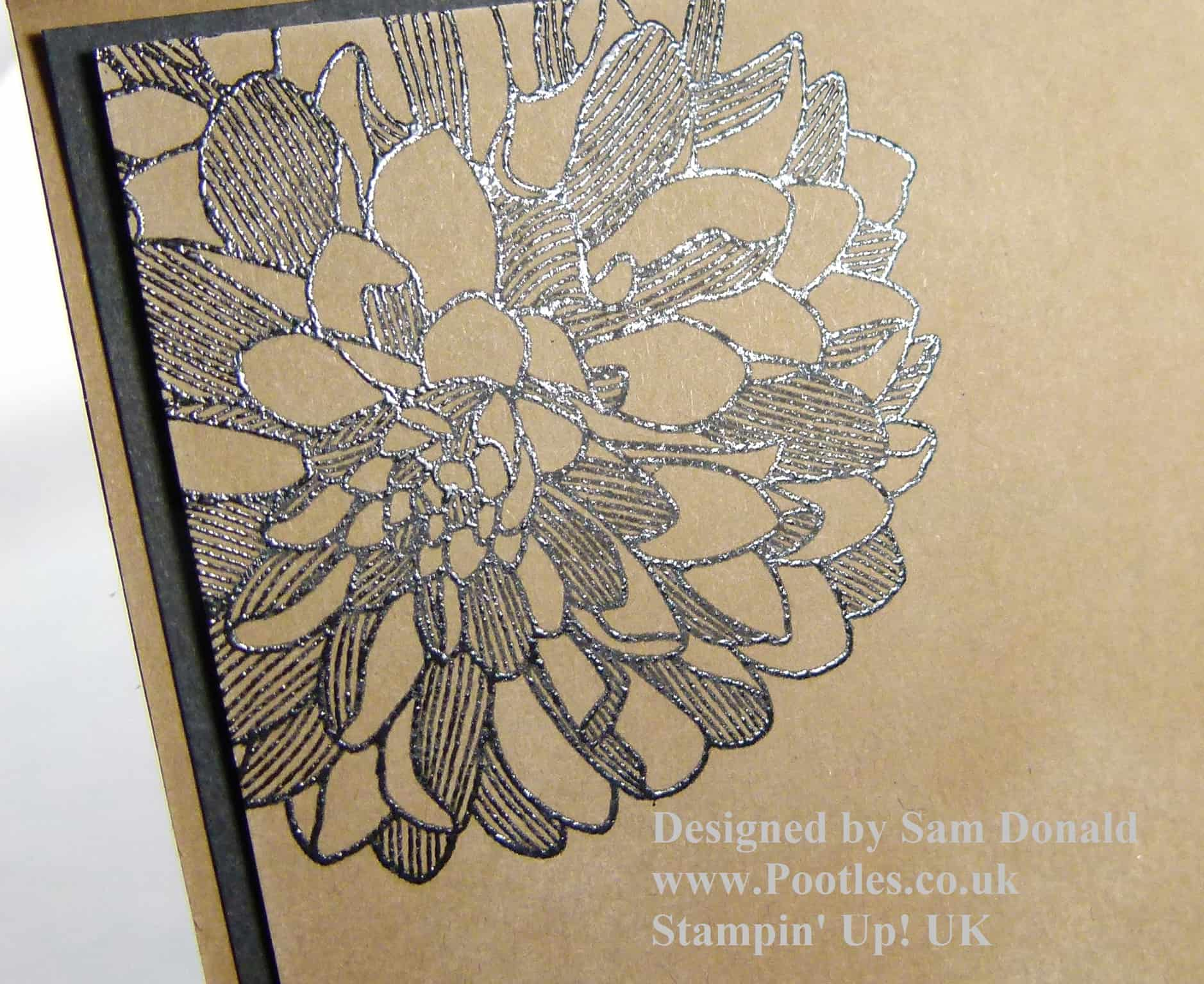 POOTLES Heat Embossed Regarding Dahlias 2